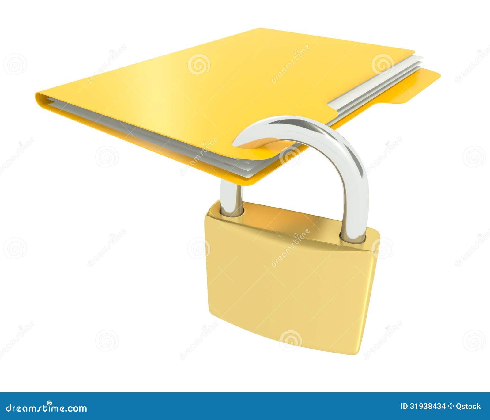 Secure File Clip Art