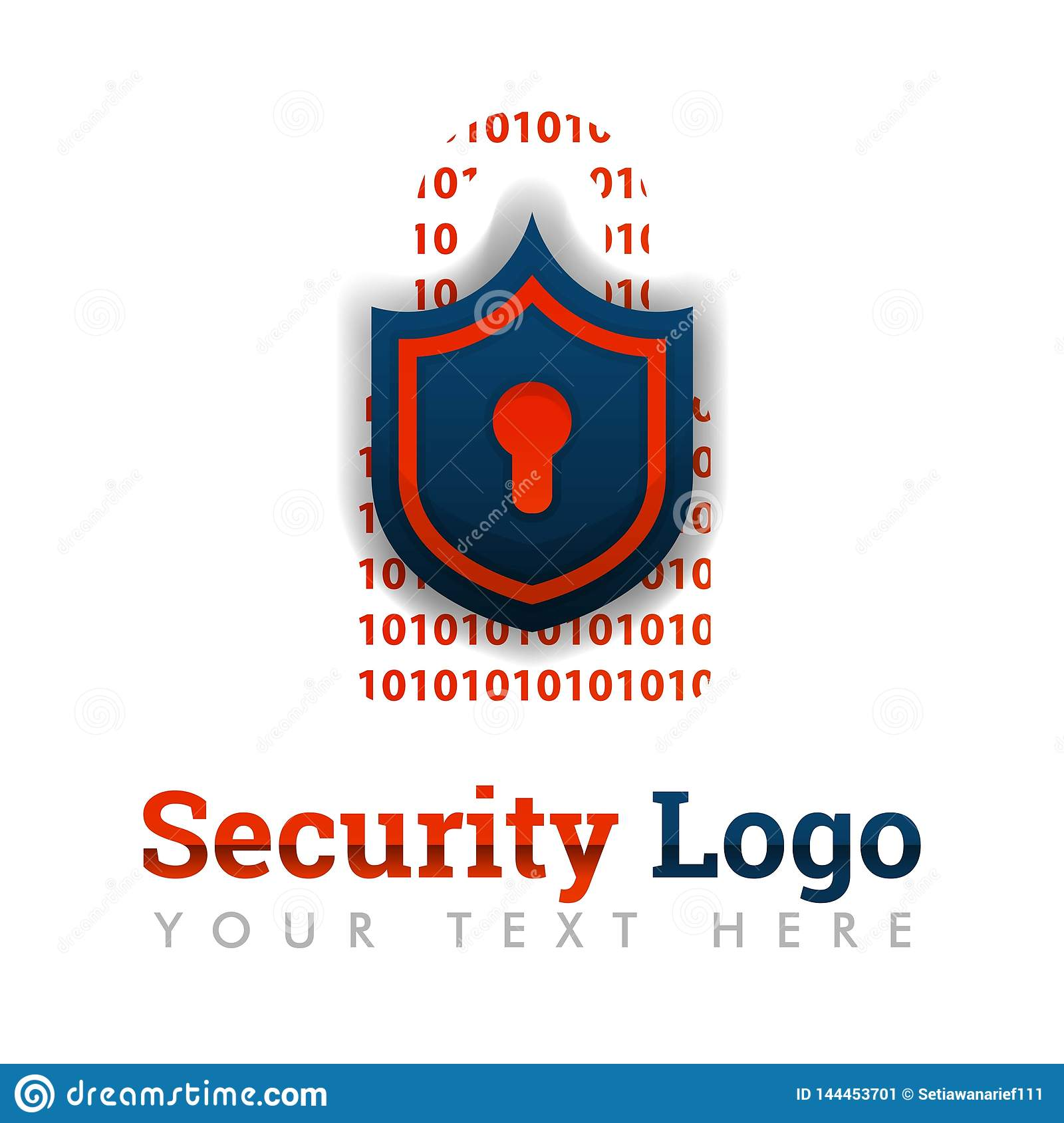 Security Logo Template For Security Software, Customer