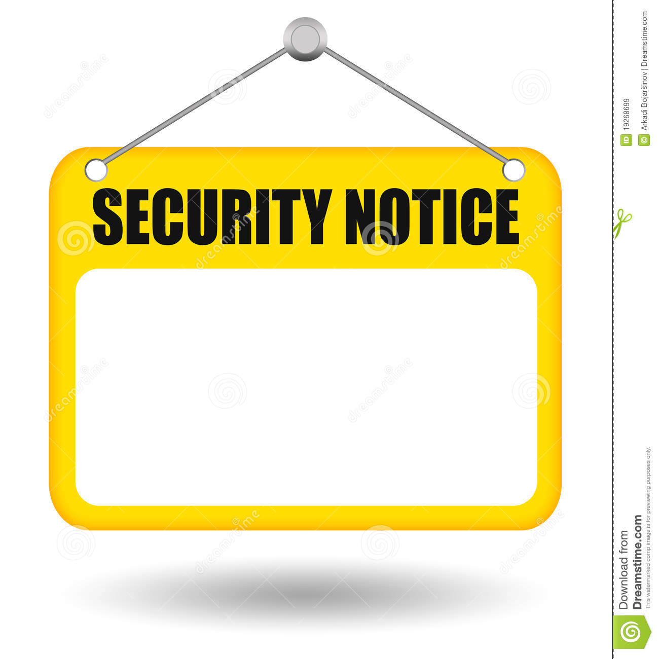 Security Notice Board Royalty Free Stock Images - Image: 19268699