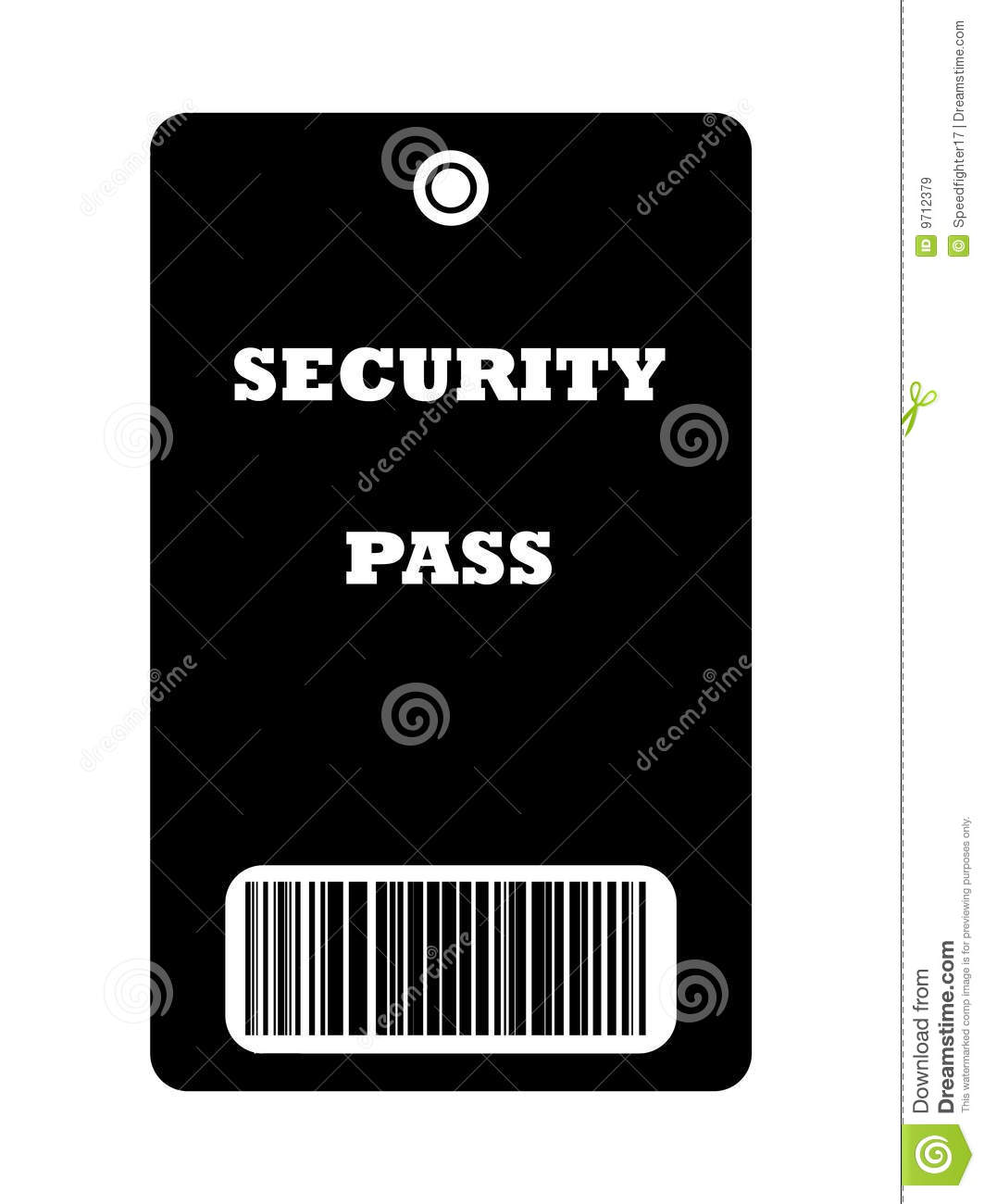 Security Pass Royalty Free Stock Images - Image: 9712379
