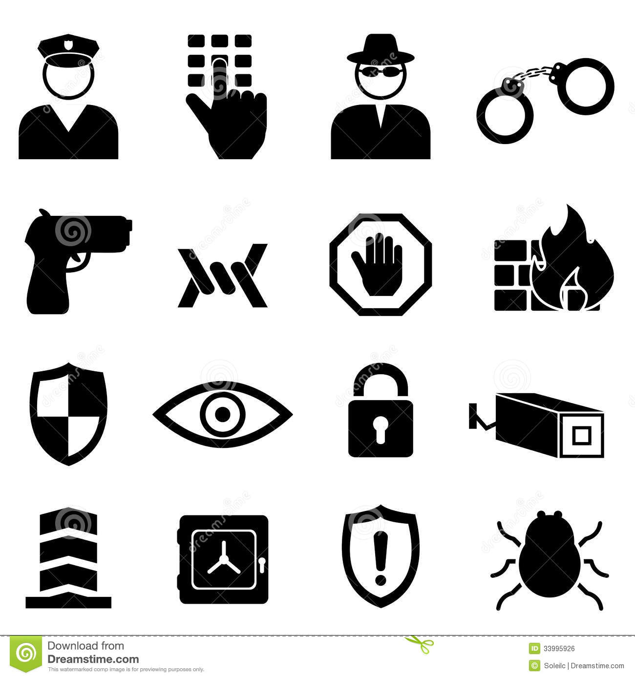Security And Safety Icon Set Royalty Free Stock Image