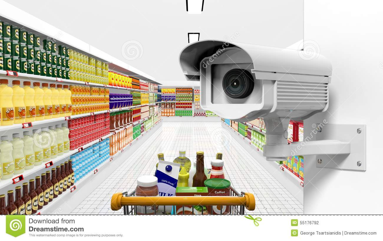 Security surveillance camera with supermarket stock for Interior home security cameras