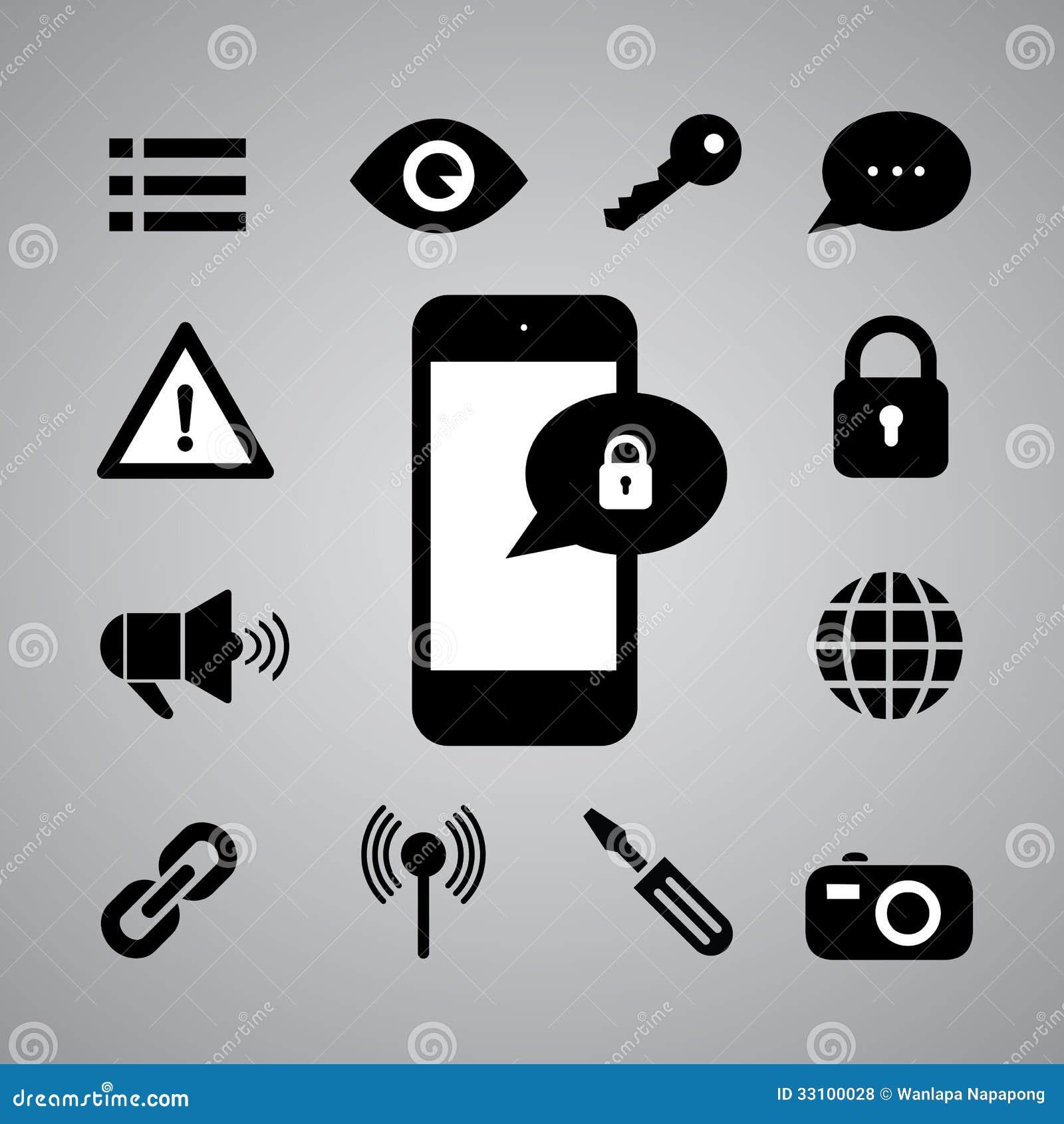 Security Symbol Stock Illustration Illustration Of Padlock 33100028