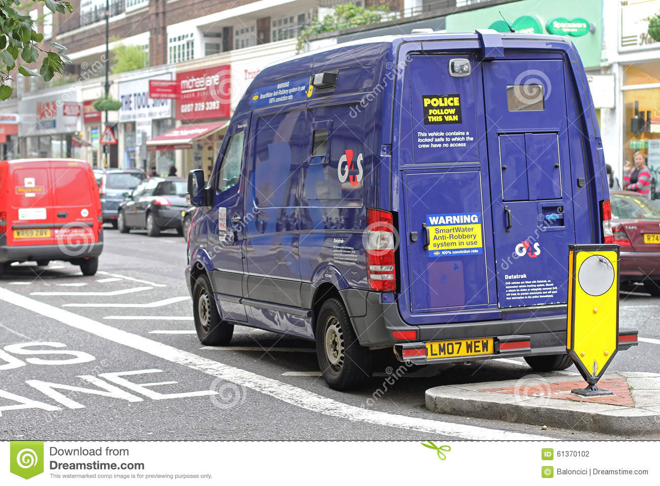 a58a0cda8e433f Security Van editorial photography. Image of london