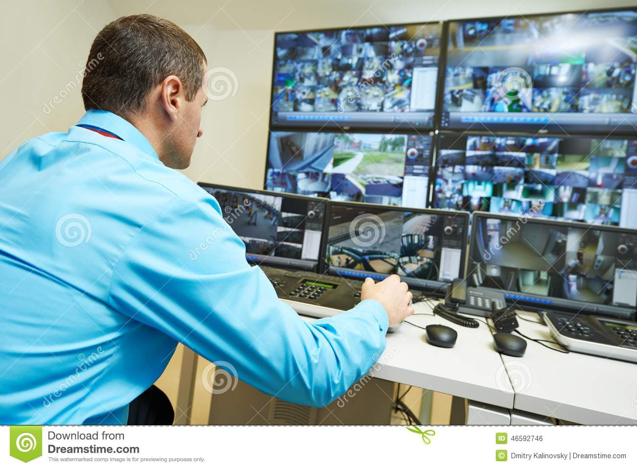 Security Video Surveillance Stock Photo Image 46592746