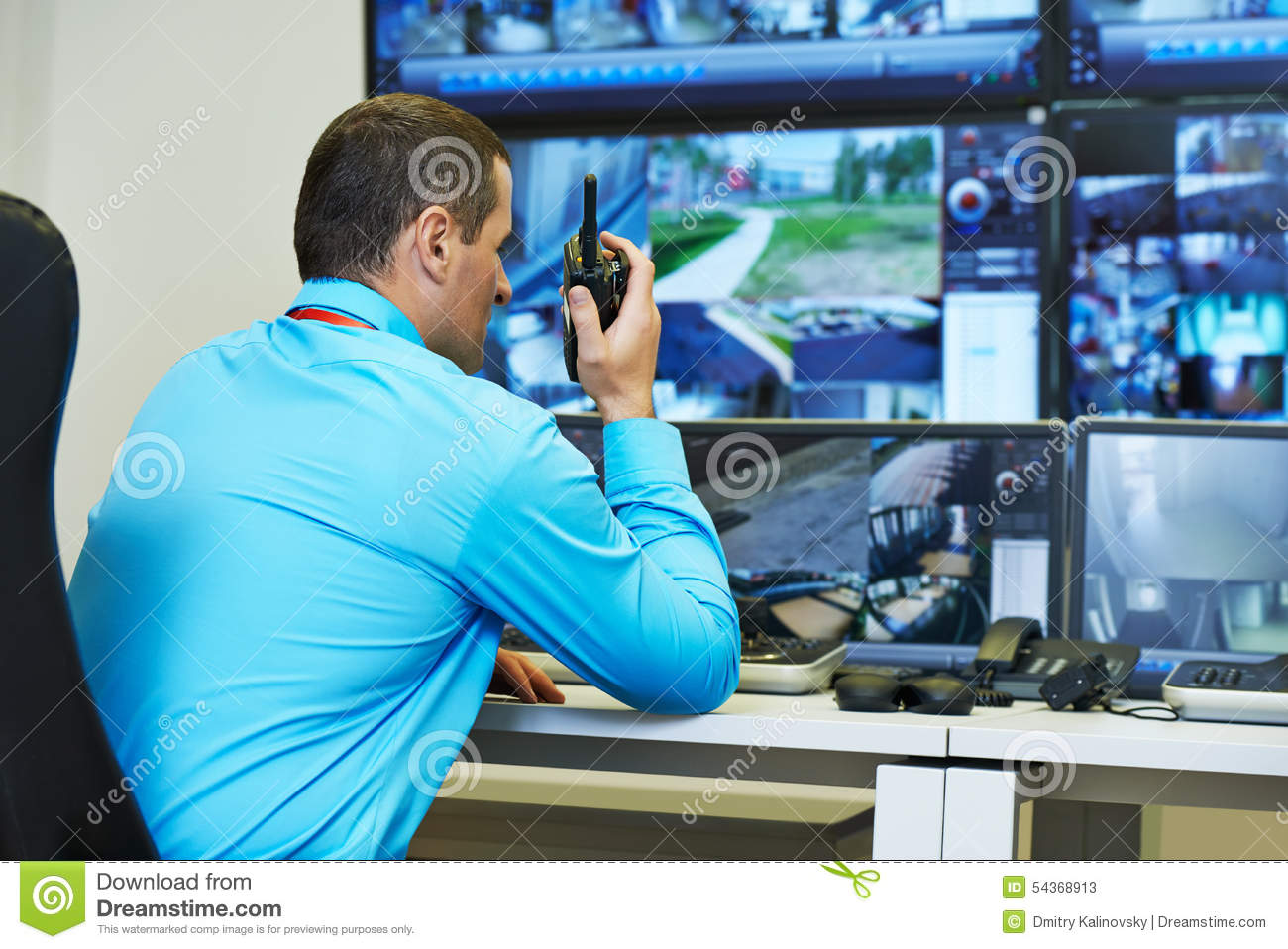 Security Video Surveillance Stock Image Image Of People