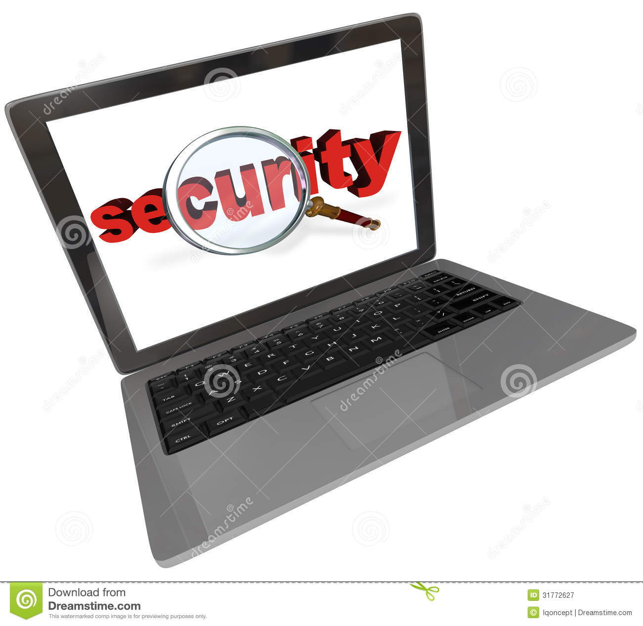 Internet Security - Shield With Magnifying Glass Stock ...