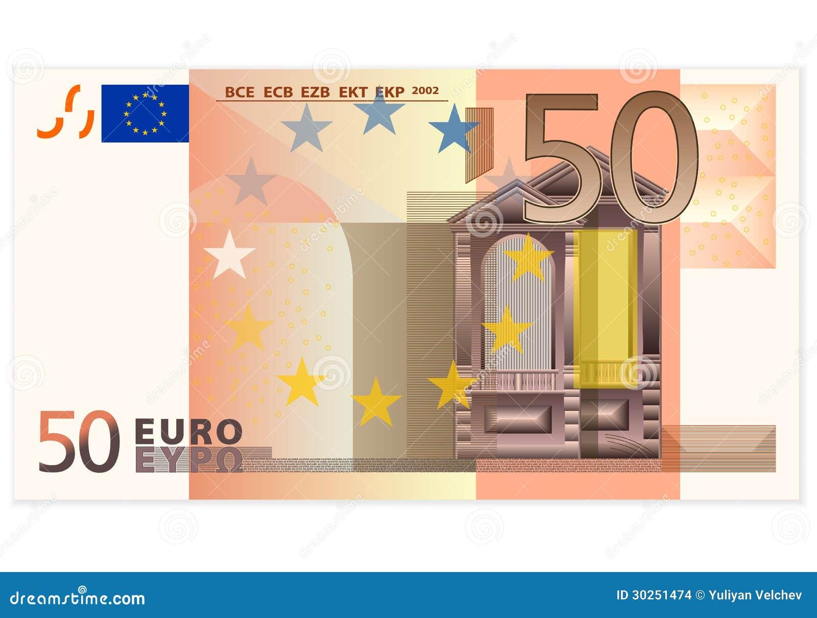 Sedel för euro femtio