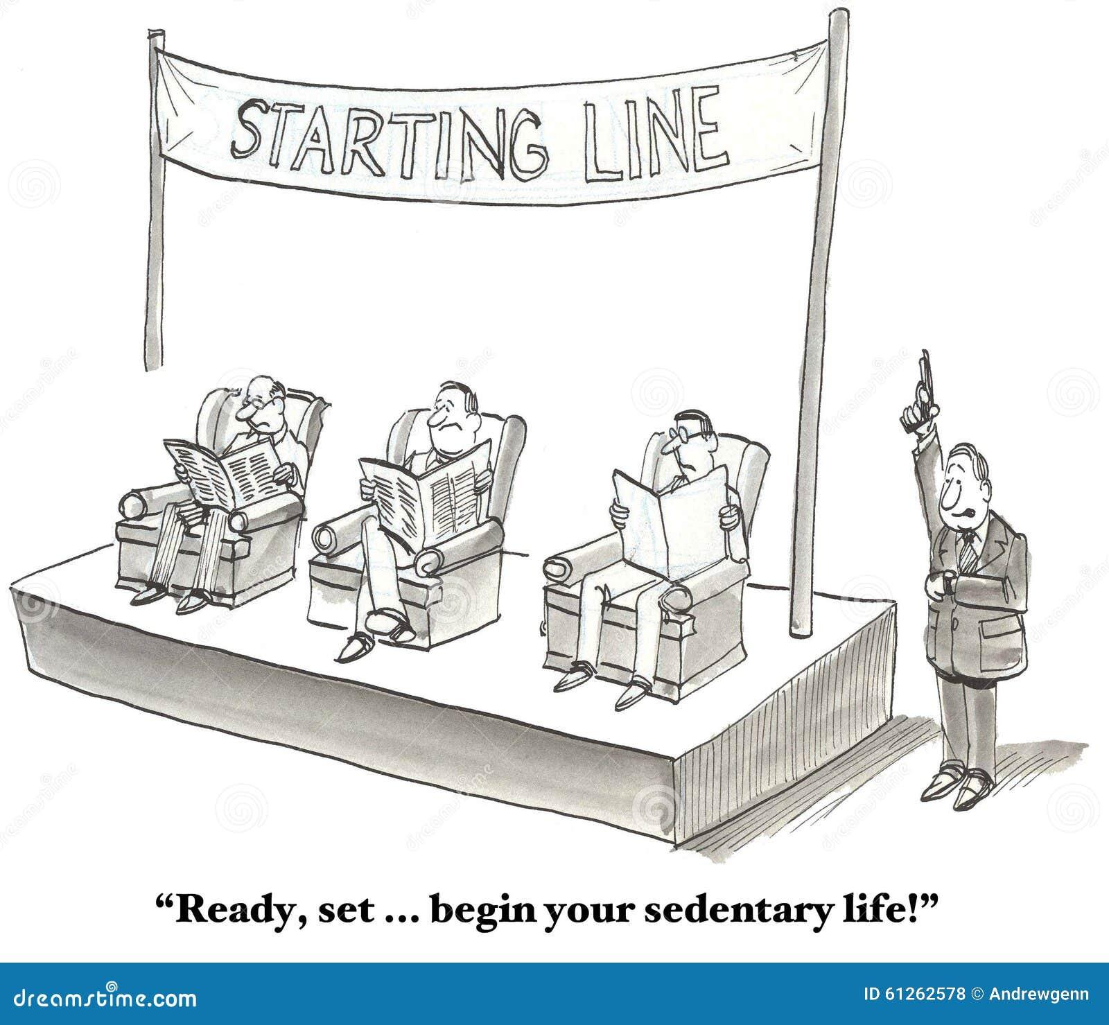Sedentary Lifestyle: Sedentary Lifestyle Stock Illustration. Illustration Of