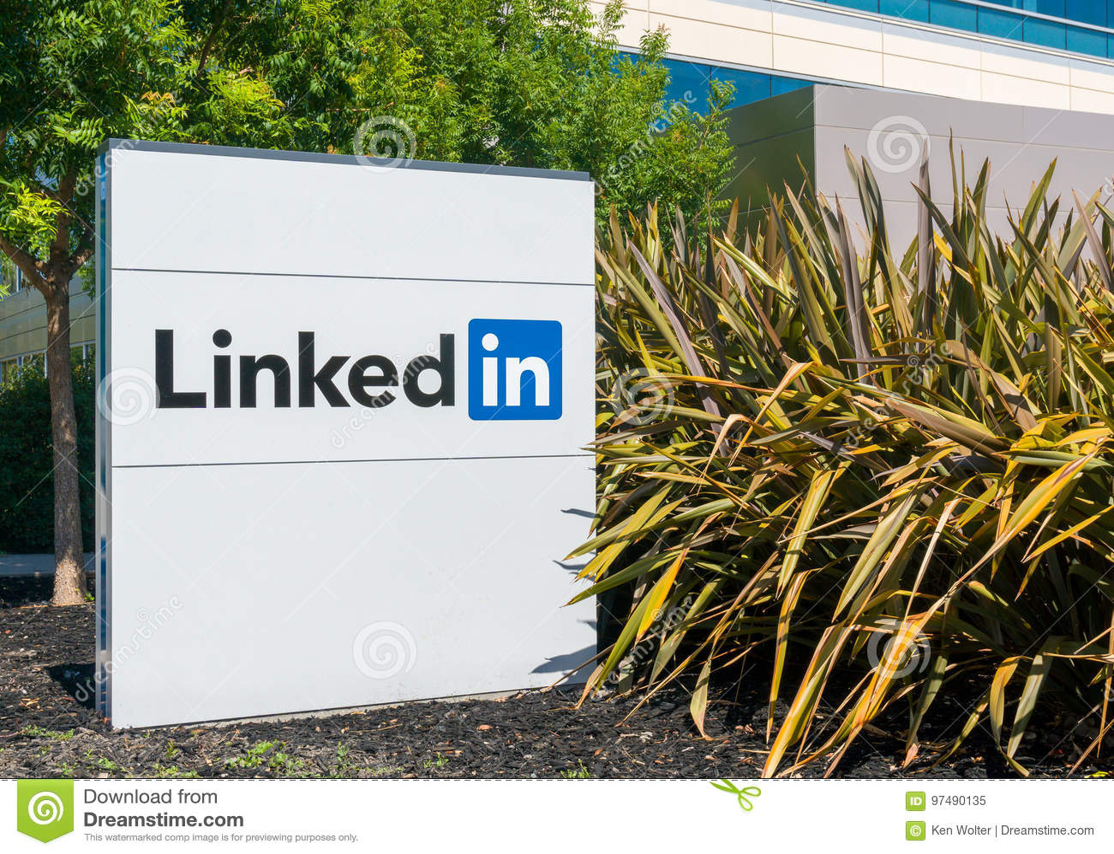 Sedi e segno corporativi di Linkedin