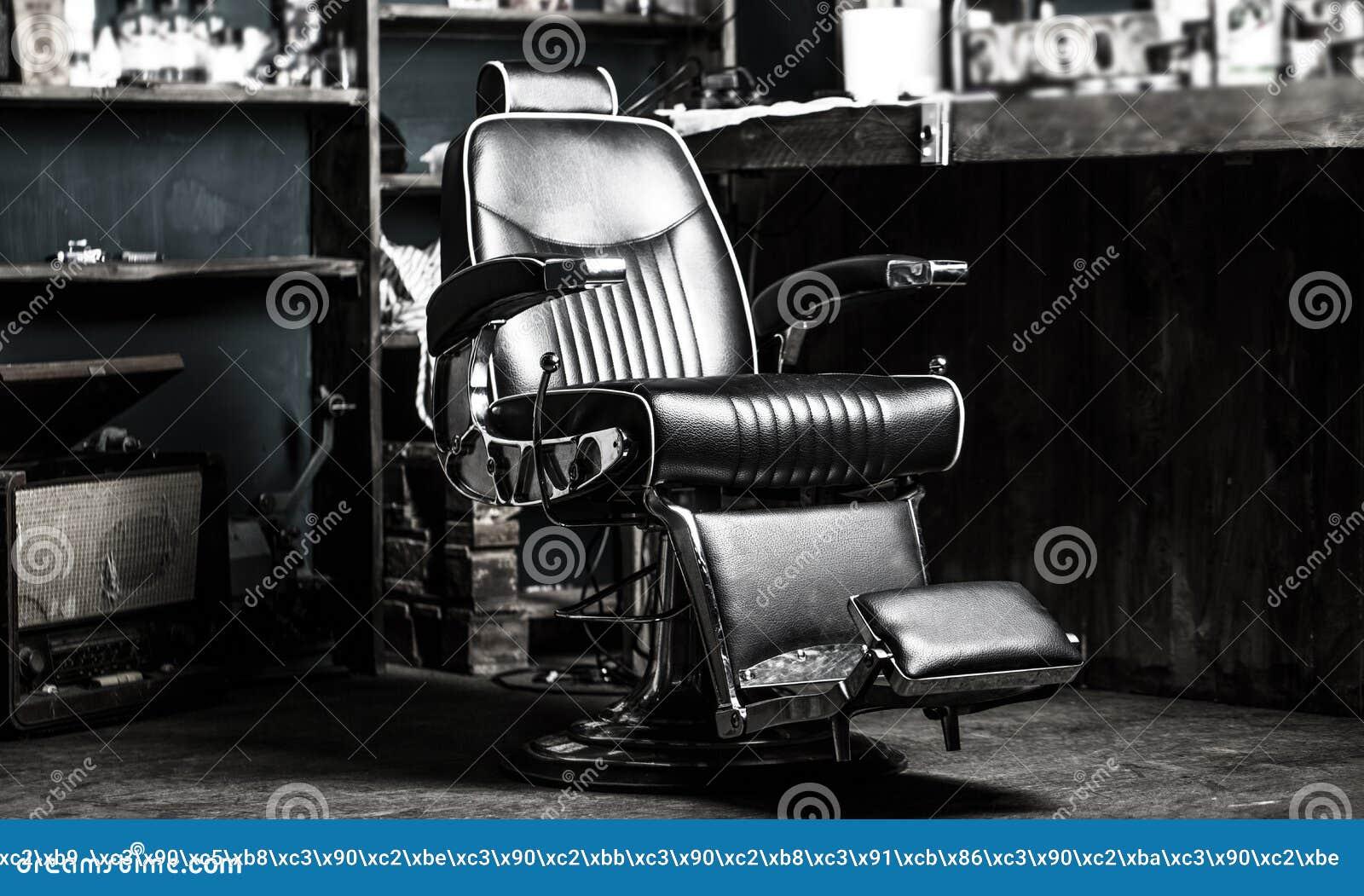 Sedia del negozio di barbiere Barber Chair d annata alla moda Poltrona del parrucchiere, parrucchiere moderno e salone di capelli