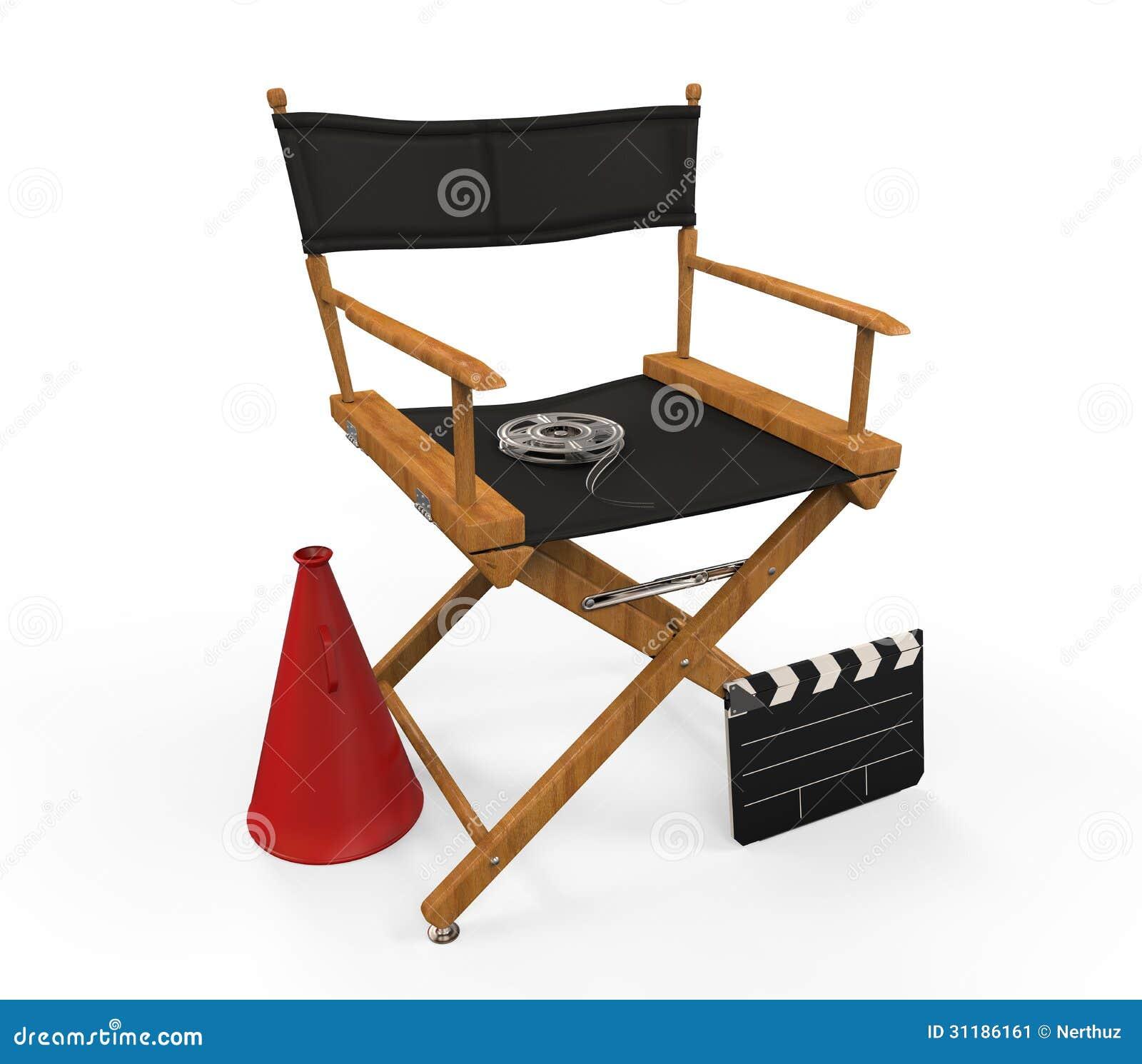 Sedia del regista immagine stock immagine 31186161 for Sedia design regista