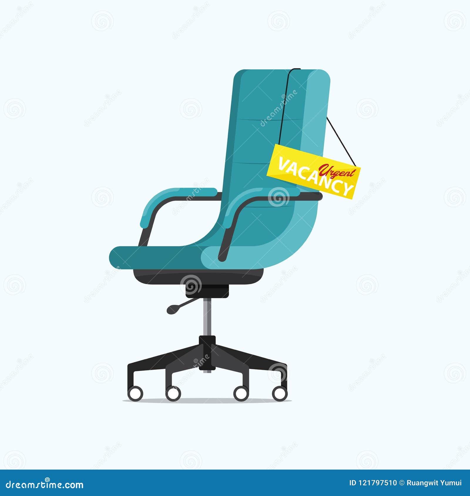 Sedie Ufficio In Offerta.Sedia Dell Ufficio E Un Segno Libero Con Il Messaggio Urgente Di