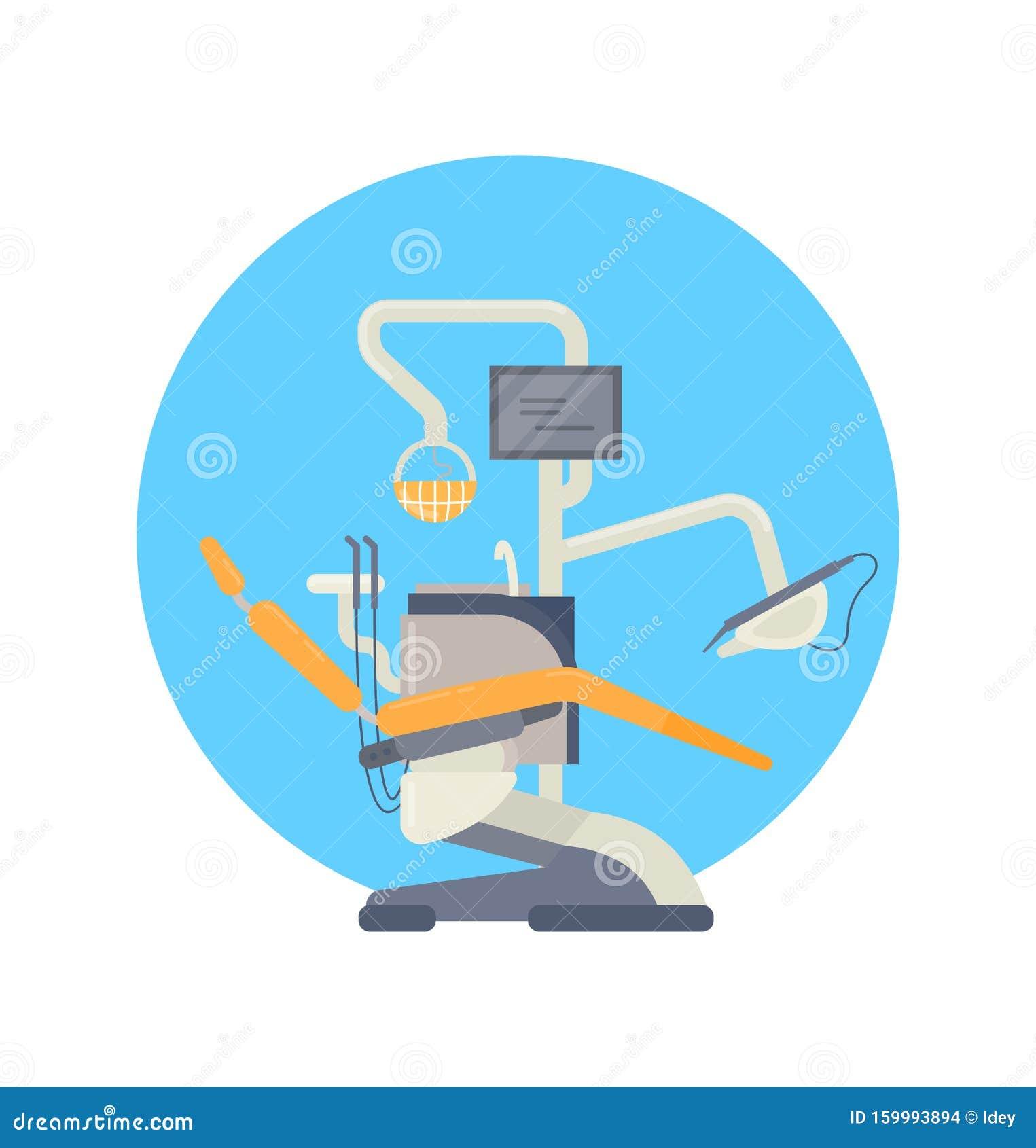 Sedia Dentale A Braccio, Dentista, Immagine Vettoriale ...