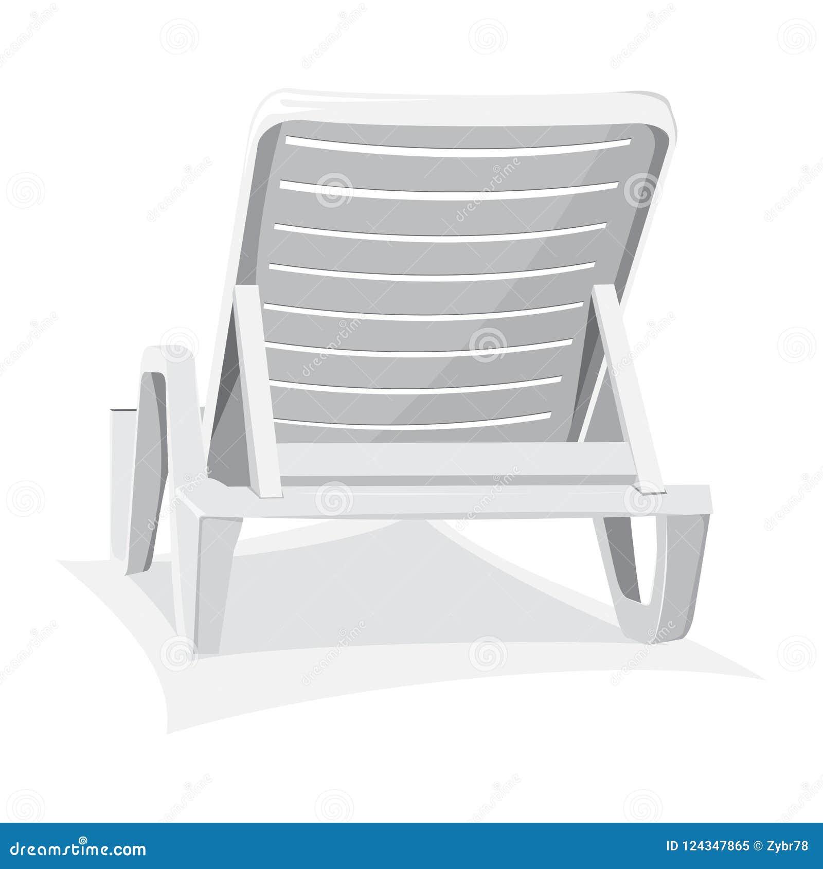 Sedia Di Spiaggia Di Plastica Illustrazione Vettoriale ...