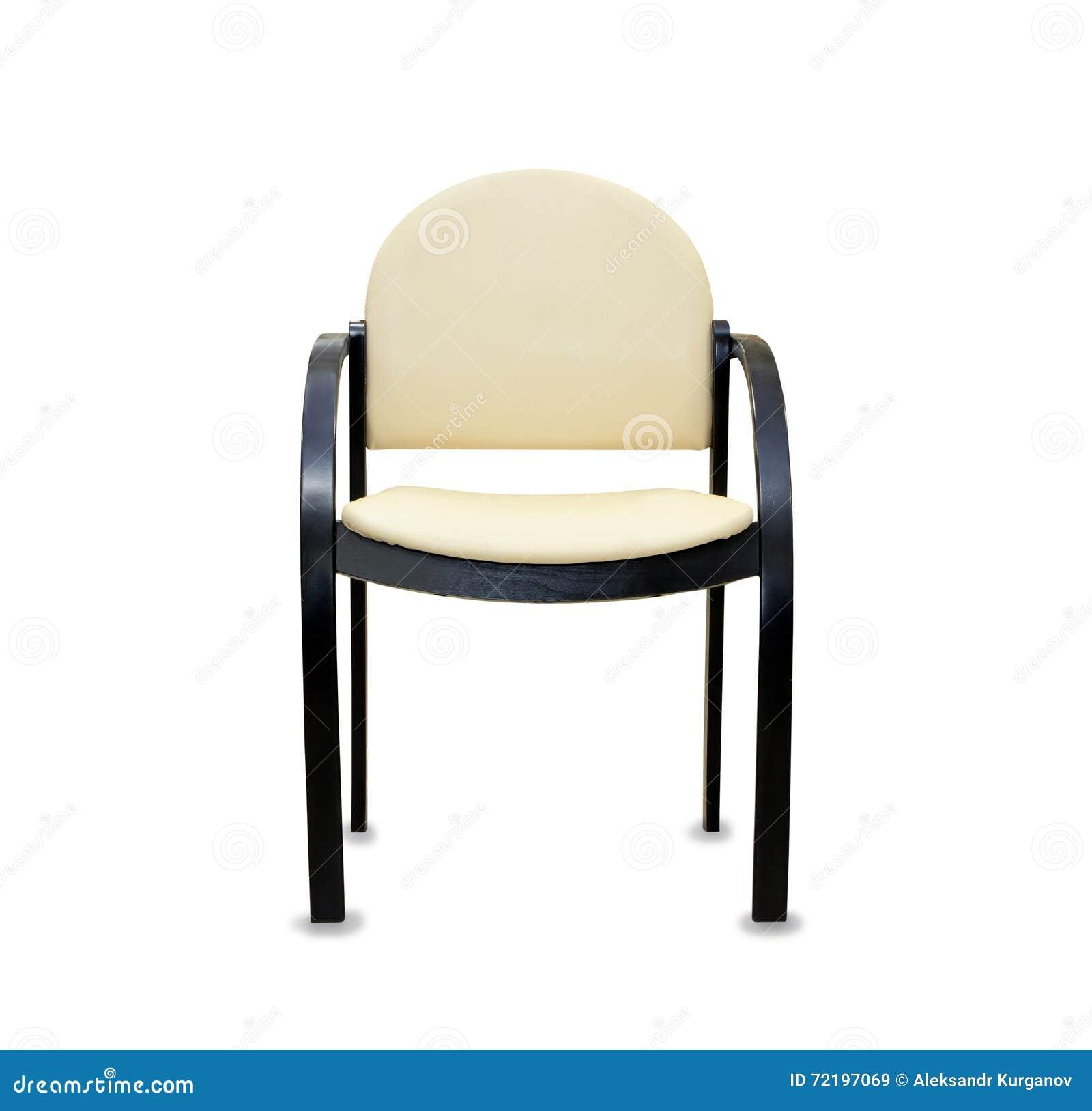 Sedia moderna dell 39 ufficio da cuoio beige fotografia stock for Sedia ufficio moderna