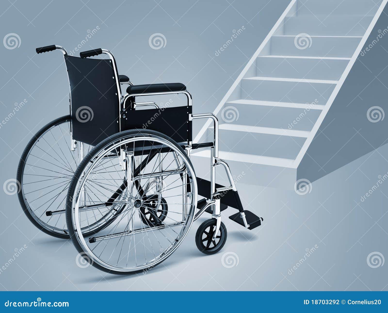 Sedia a rotelle e scale illustrazione di stock ...
