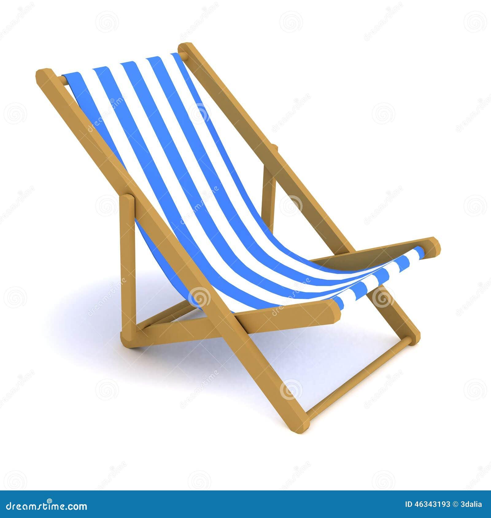 Sedia a sdraio 3d illustrazione di stock immagine 46343193 for Sedia sdraio
