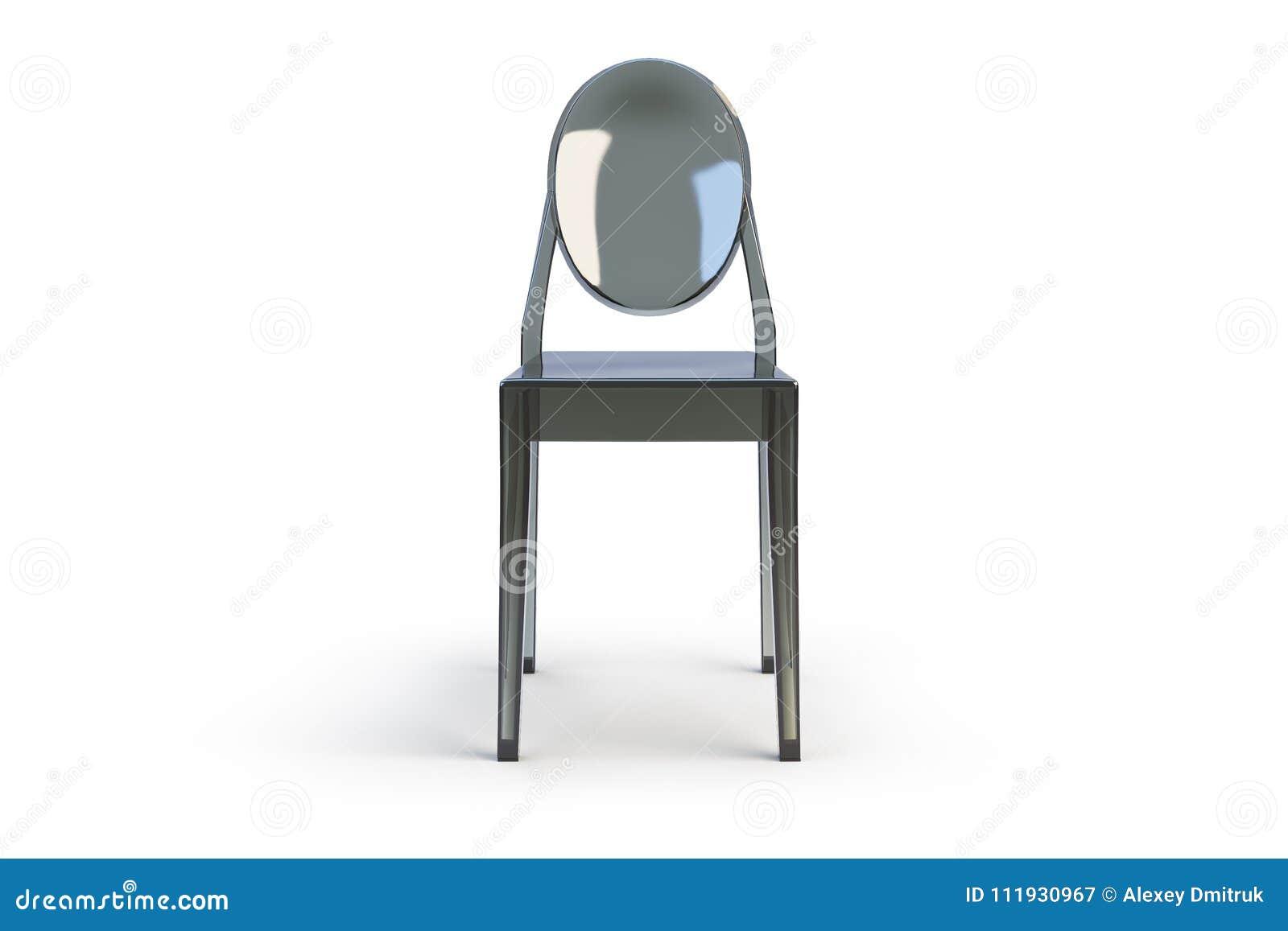 Sedie Di Plastica Trasparenti : Sedia trasparente di plastica d rendono illustrazione di stock