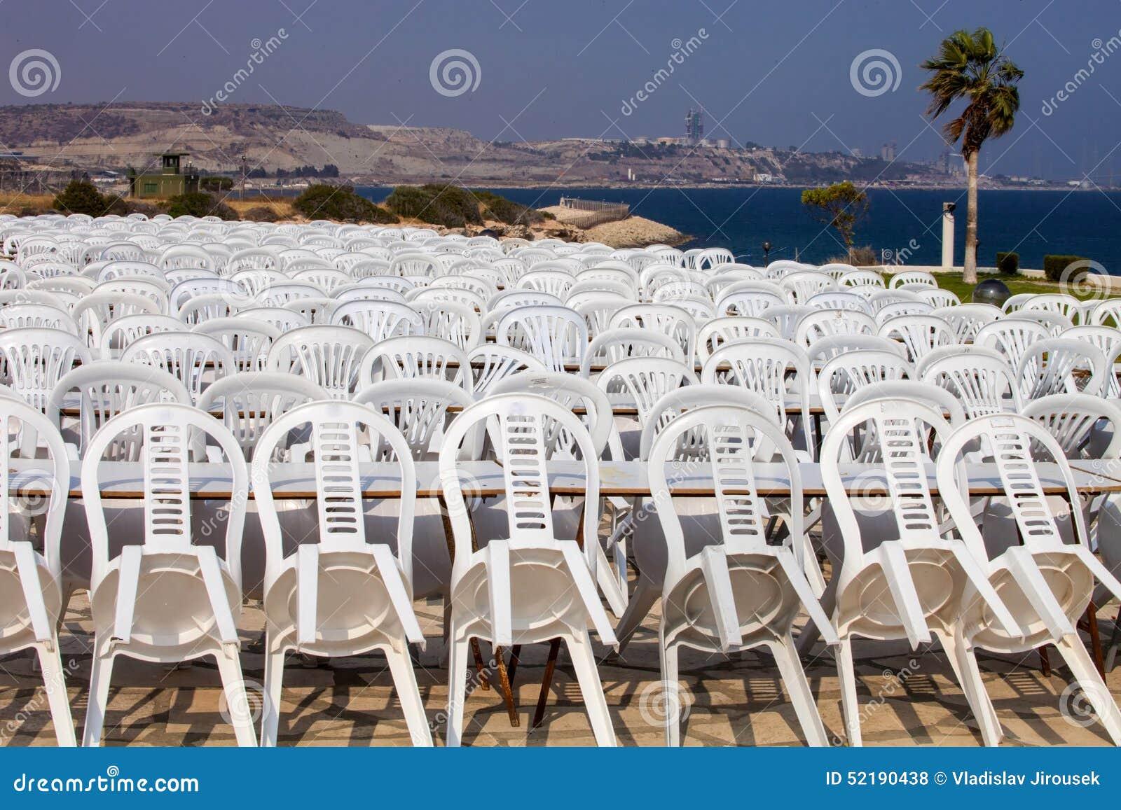 Stock Sedie In Plastica.Sedie Di Plastica Composite Dopo La Manifestazione Cipro Fotografia