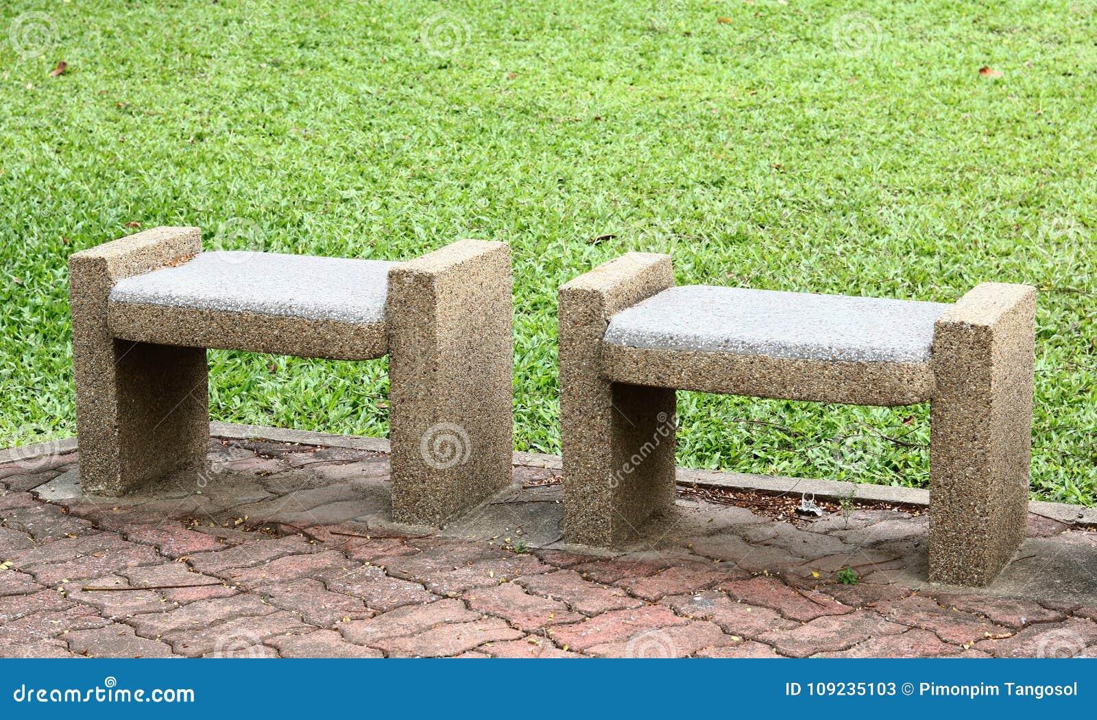 Sedili Di Banchi Di Pietra Immagine Stock Immagine Di Barriere