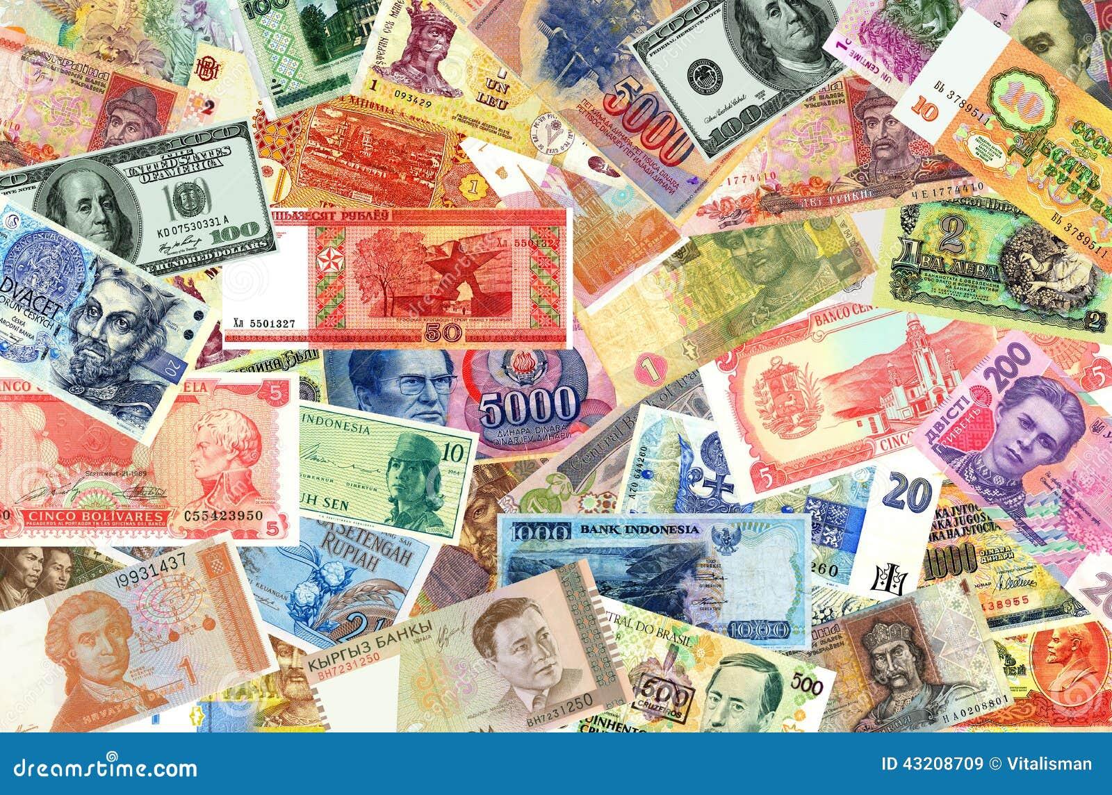 Download Sedlar Av Världen Av Olika Tider Fotografering för Bildbyråer - Bild av bankirer, bili: 43208709