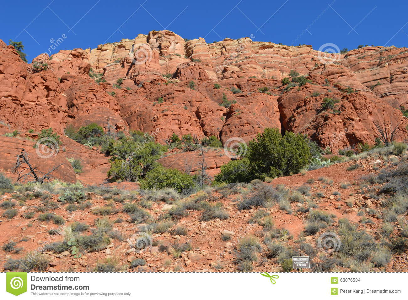 Download Sedona Moutains photo stock. Image du montagnes, automne - 63076534