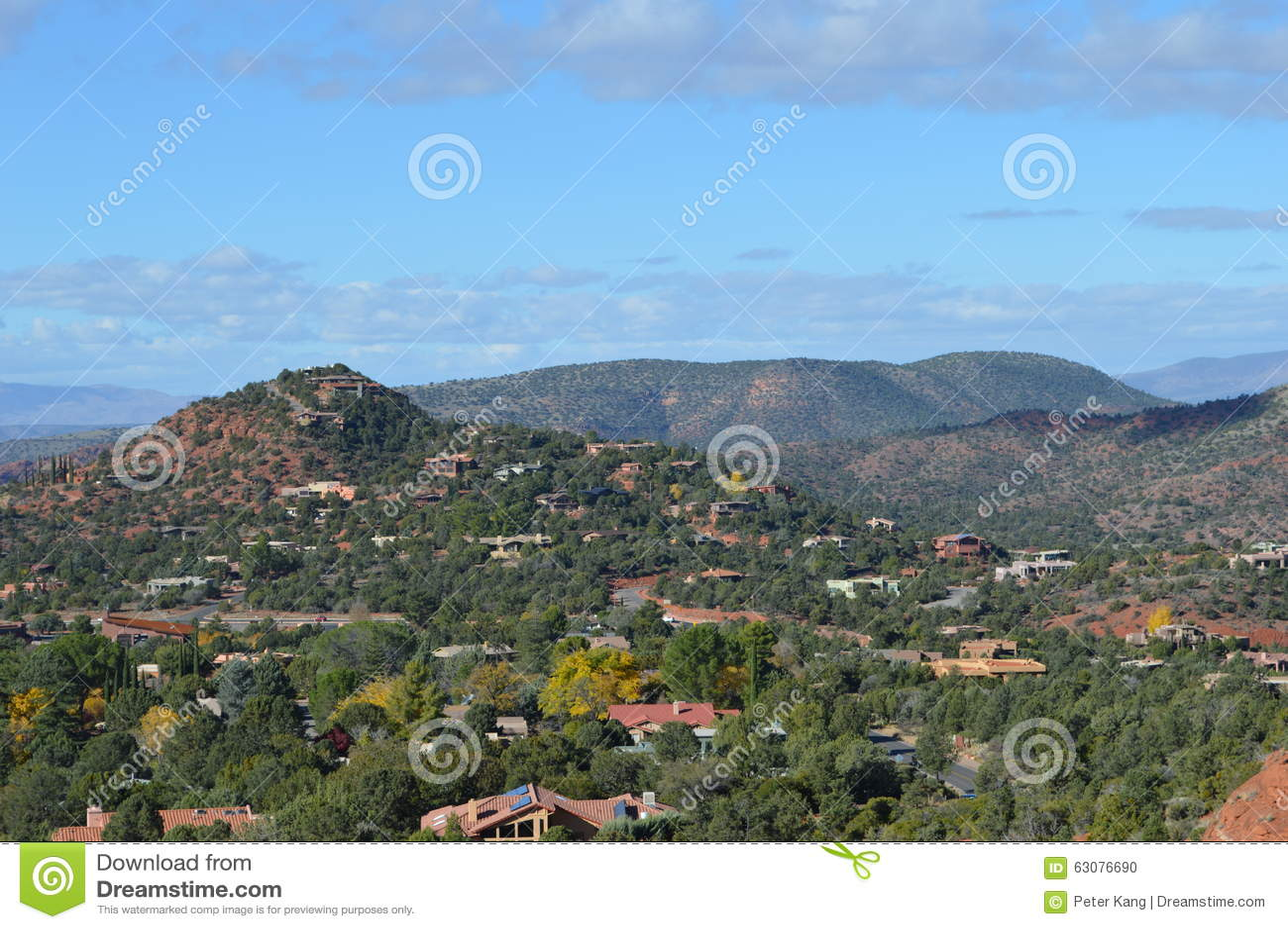 Download Sedona Moutains photo stock. Image du rouge, montagne - 63076690