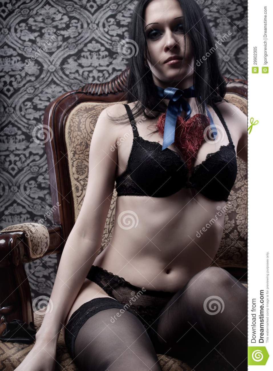 Seductive Girl Stock Image Image Of Bowknot Woman