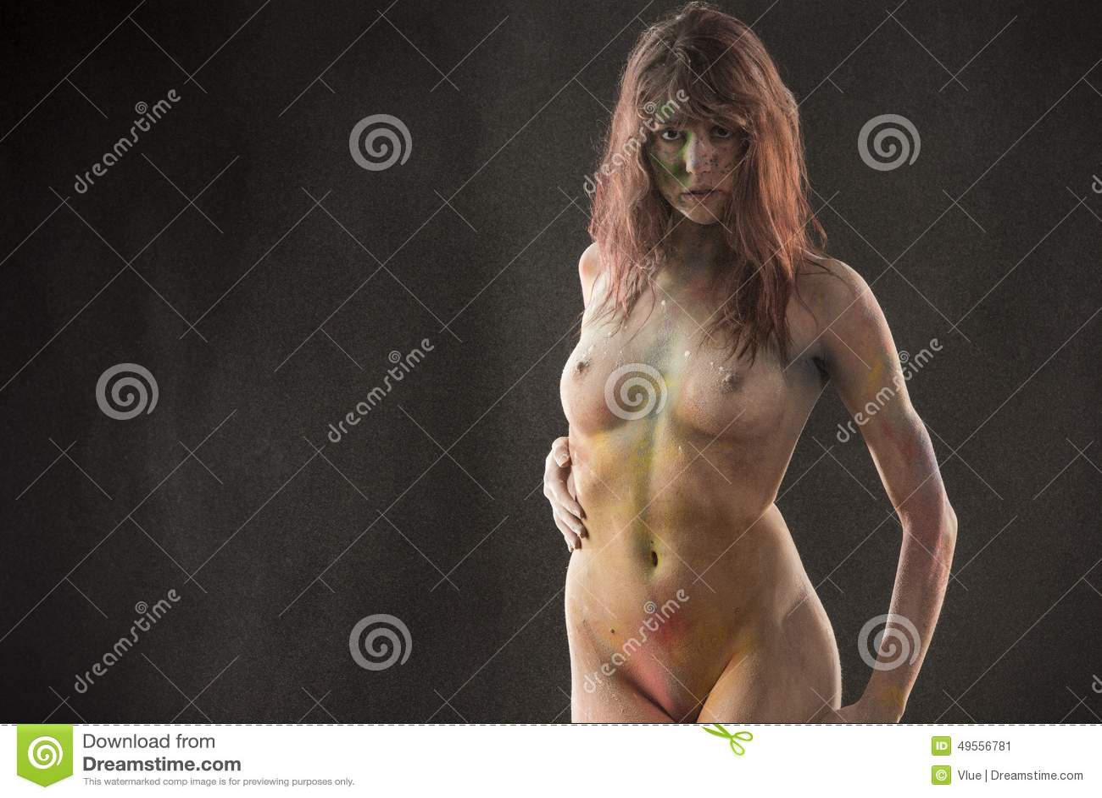 Seductive Naked Female With Body Paint Art Stock Image