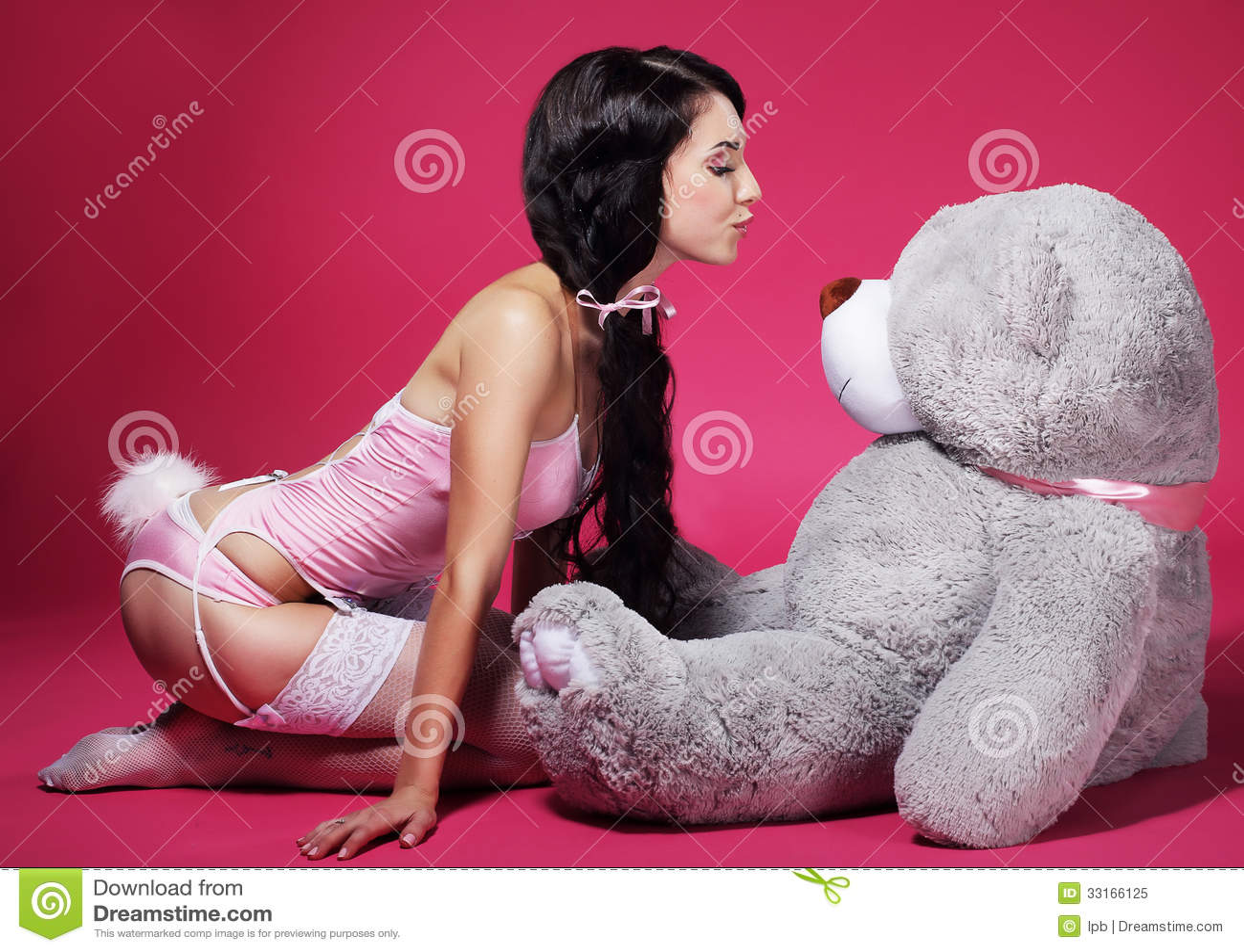 All charm! girl lingerie teddy