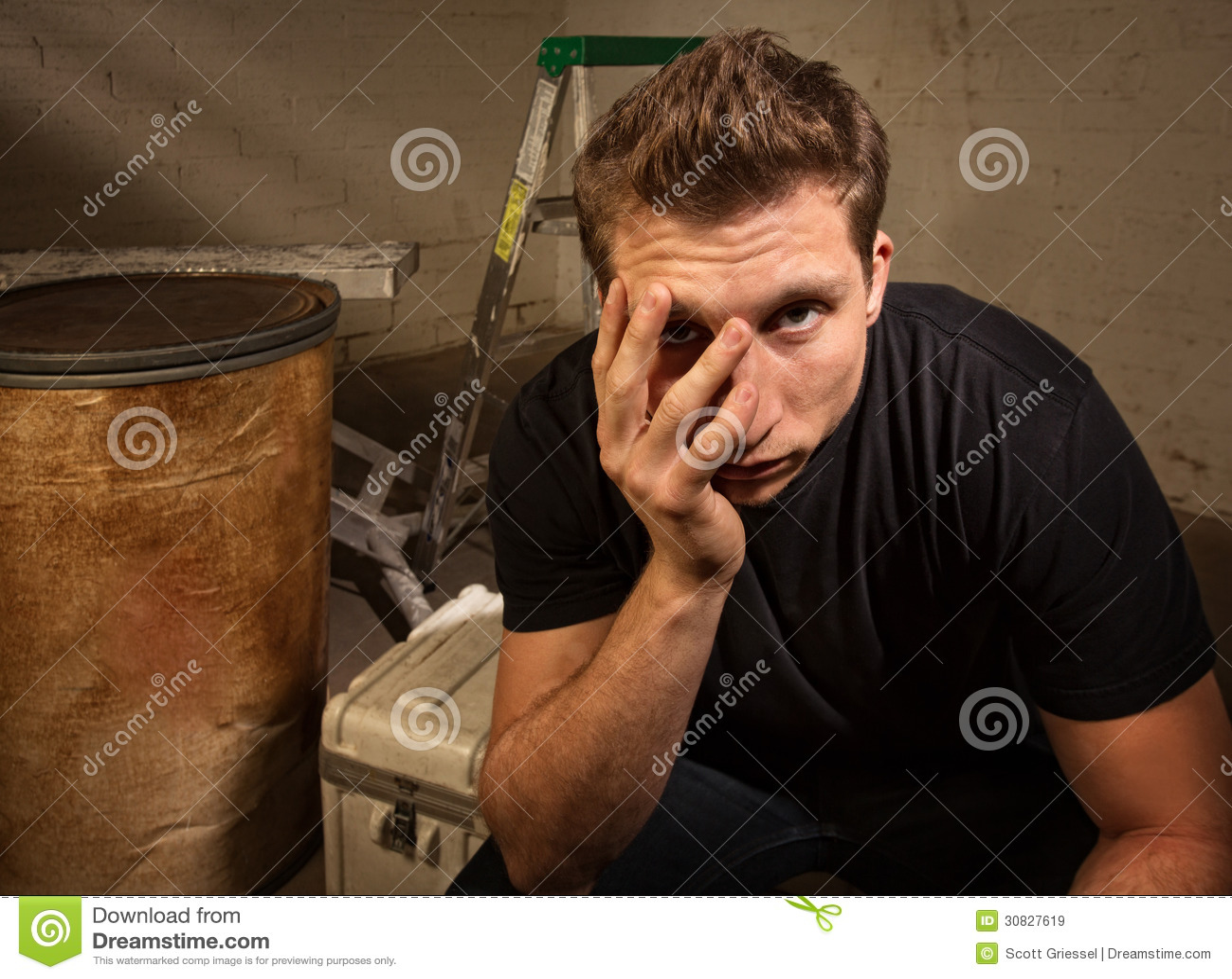 Seduta infelice dell uomo