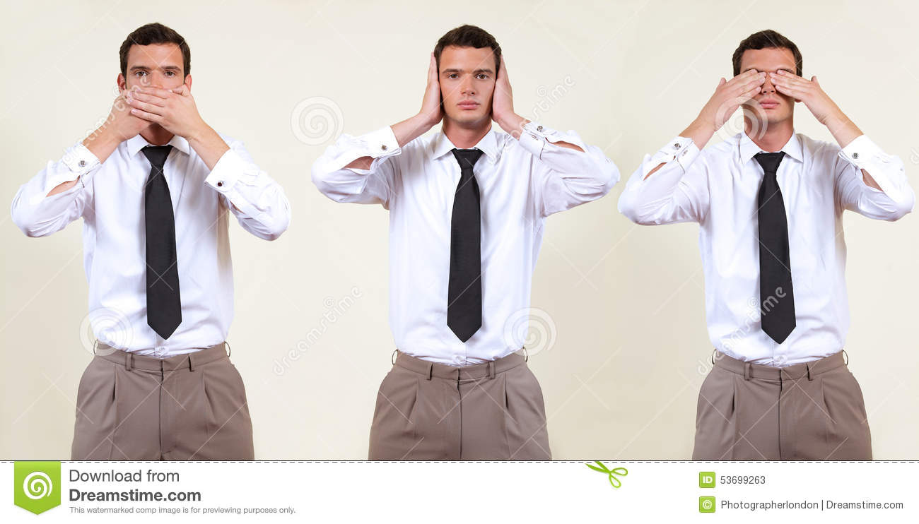 see, hear, speak no evil