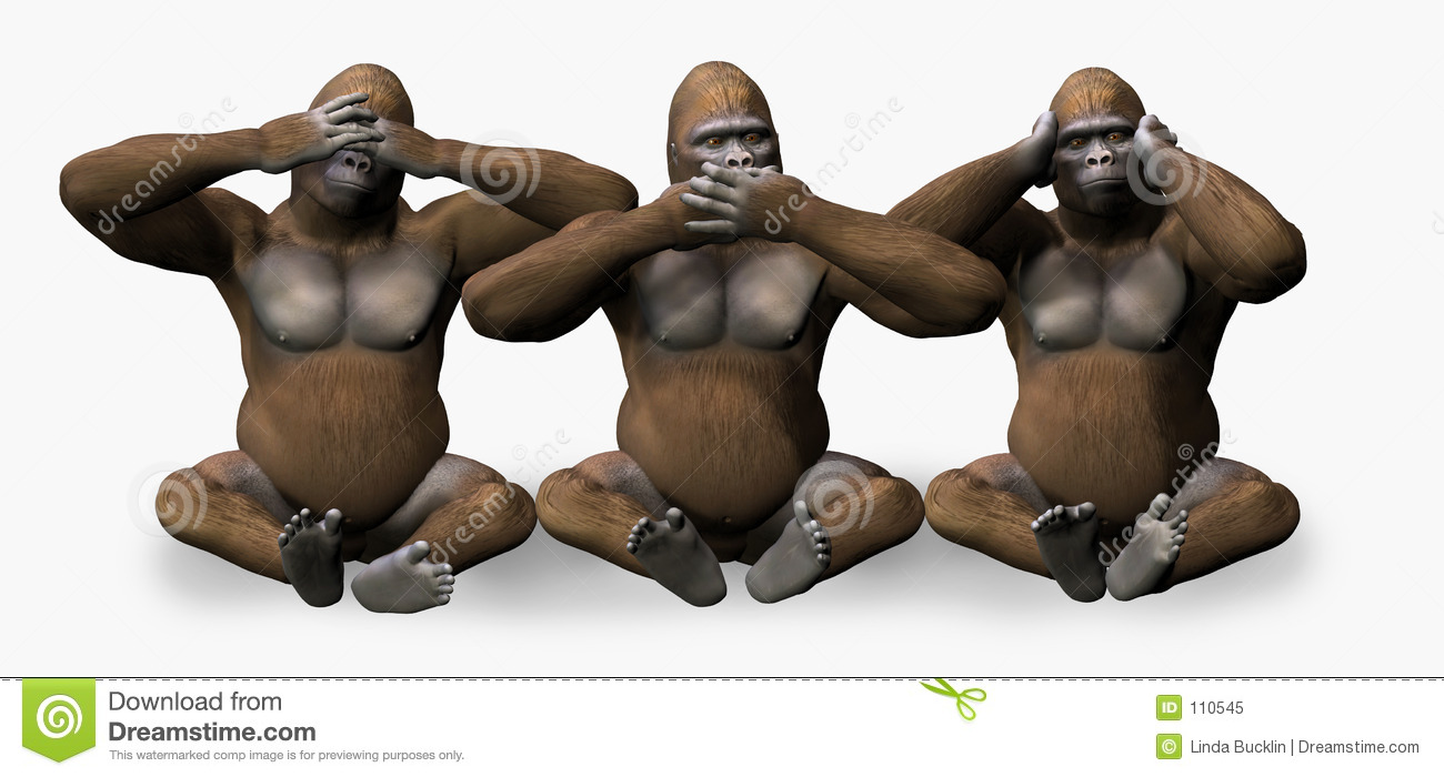 See, Hear, Speak No Evil - includes clipping path