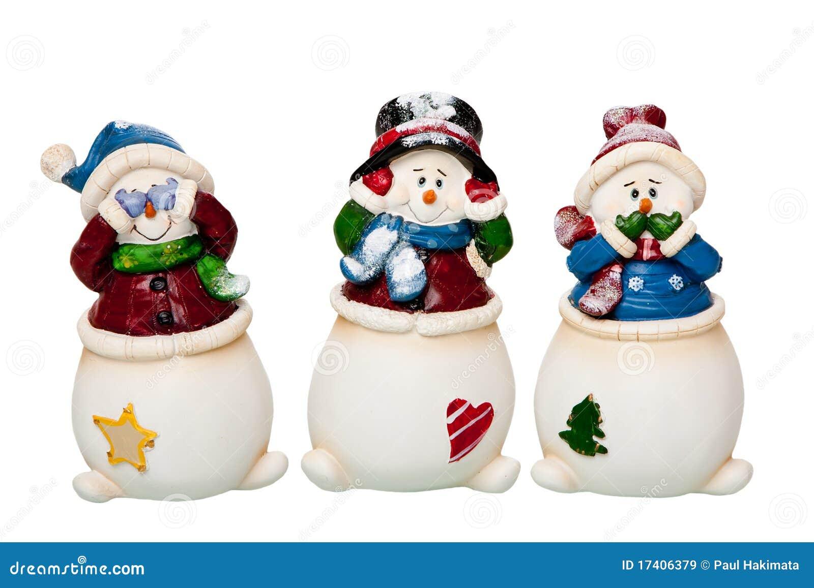 See, Hear, Speak No Evil Snowman Stock Image - Image of three, xmas ...
