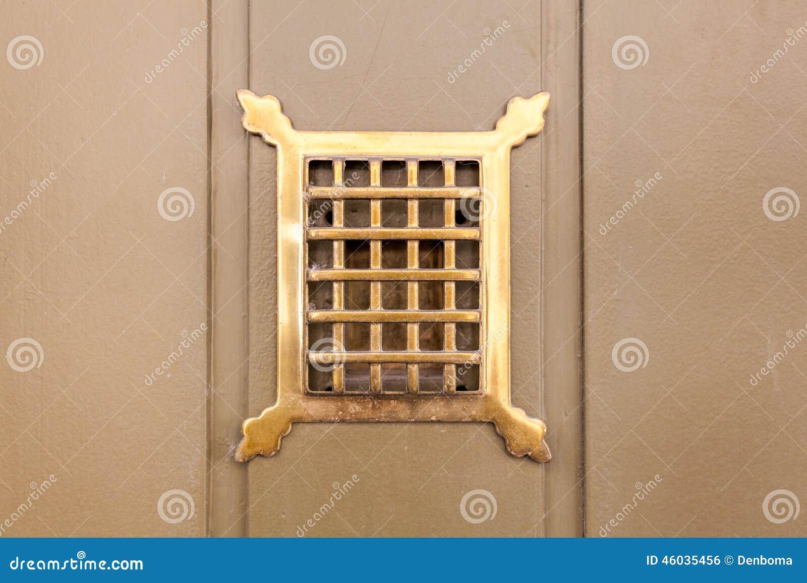 Good Copper Door Frame Hole Peephole See ...