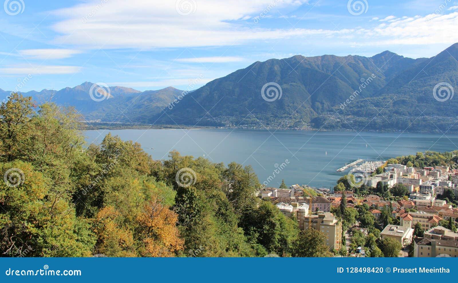 See Locorno und Stadt-Ansicht