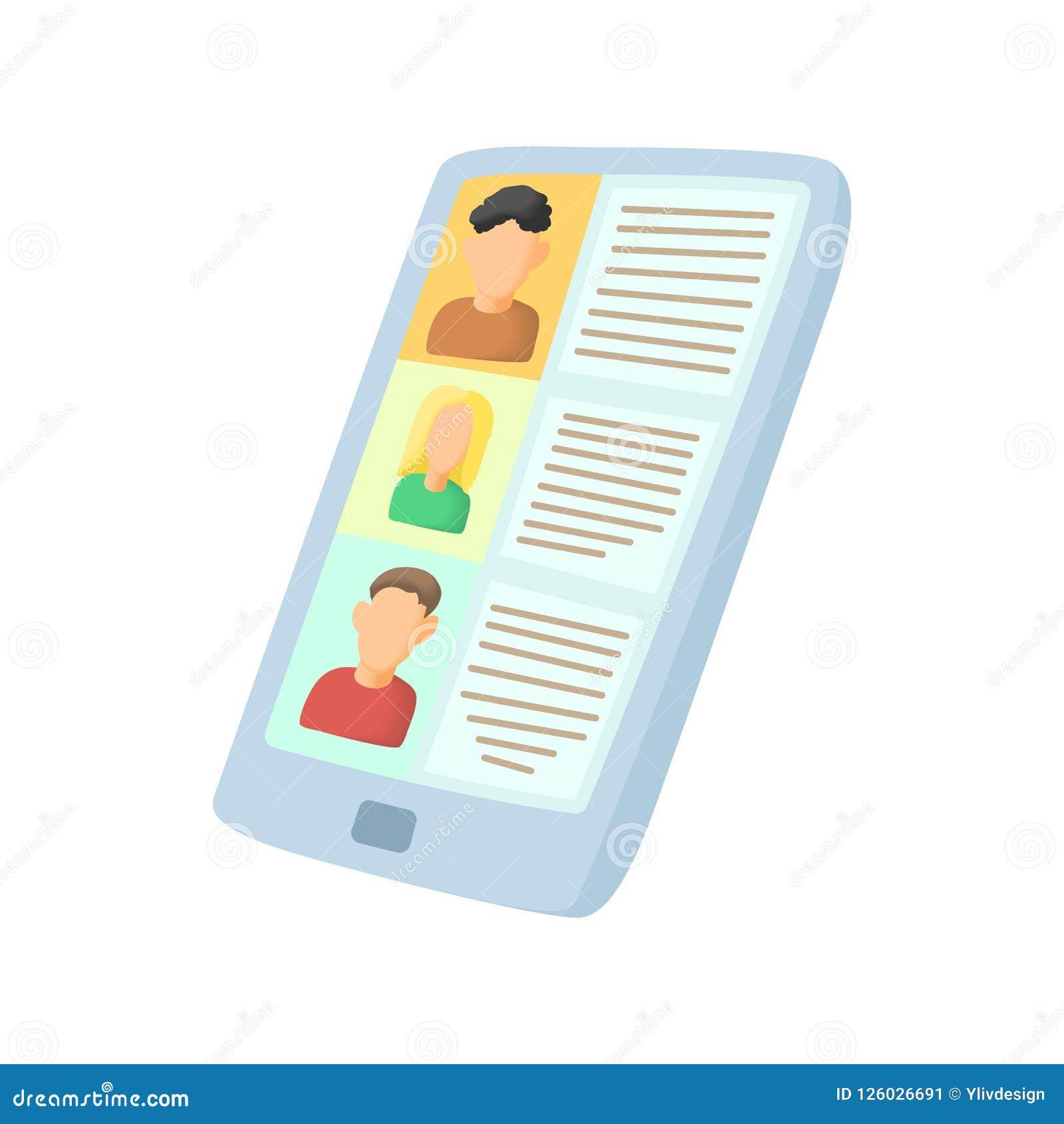See Resume On Tablet Icon Cartoon Style Stock Illustration
