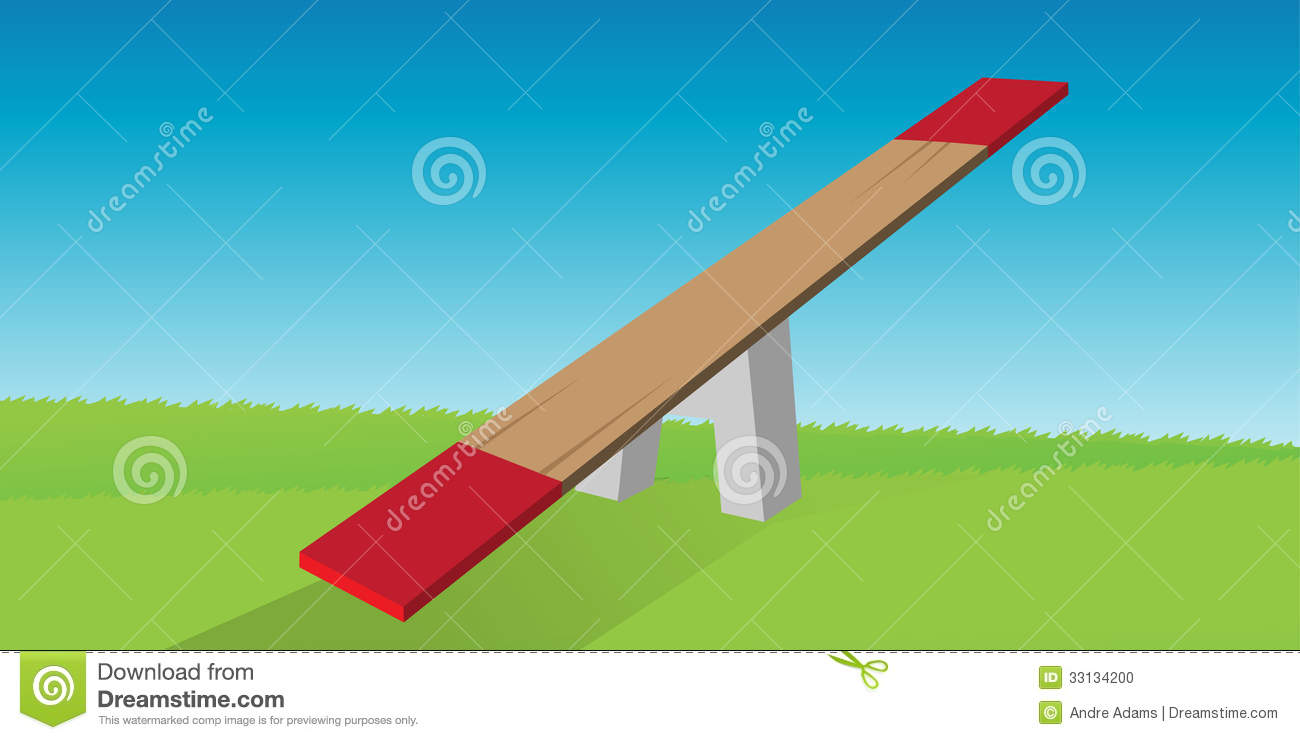 See saw stock photo image 33134200 for Seesaw plans designs