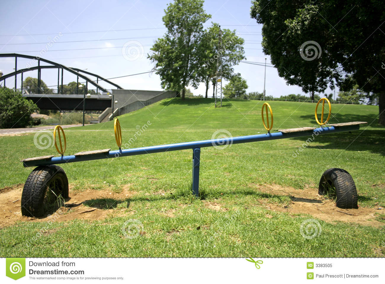 See saw in green playground royalty free stock photo for Seesaw plans designs