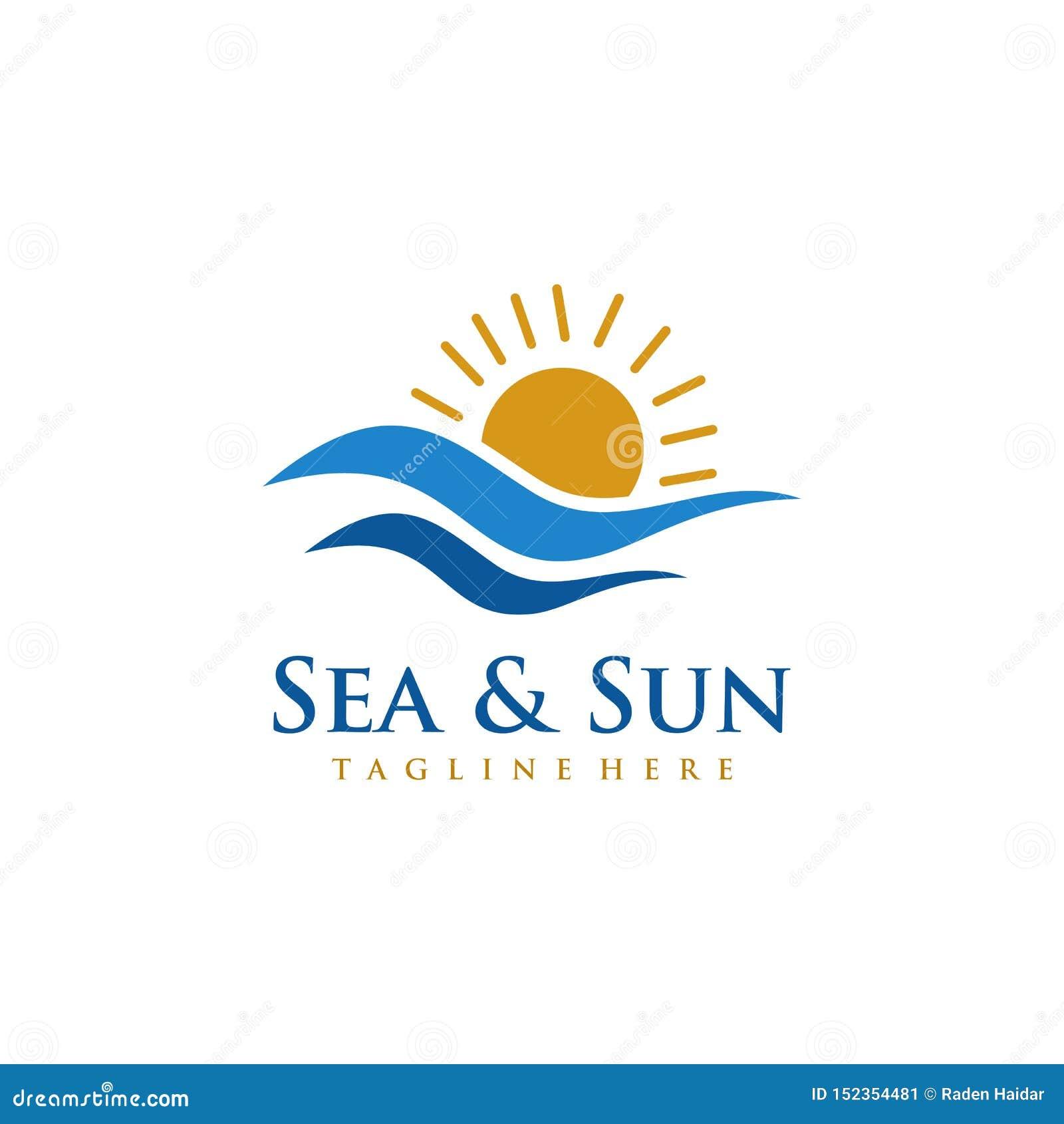 See- und Sun-Logoentwurf
