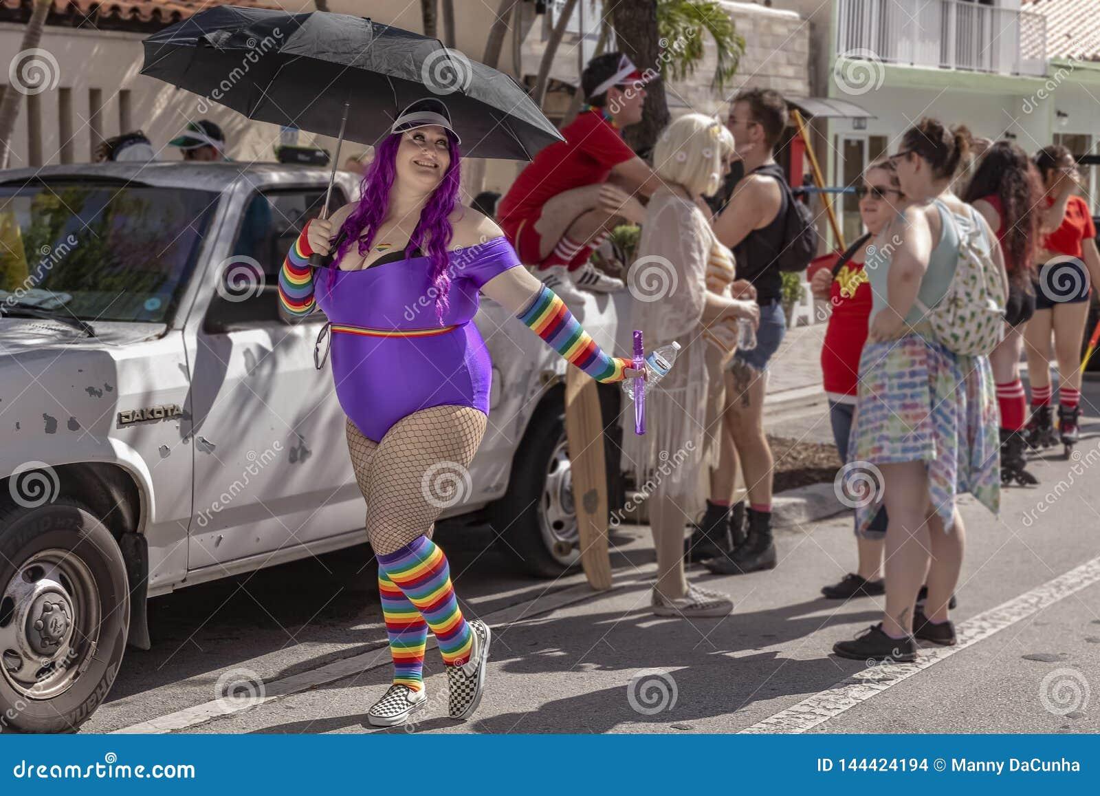 See-Wert, Florida, USA am 31. M?rz 2019 vorher, Palm Beach Pride Parade