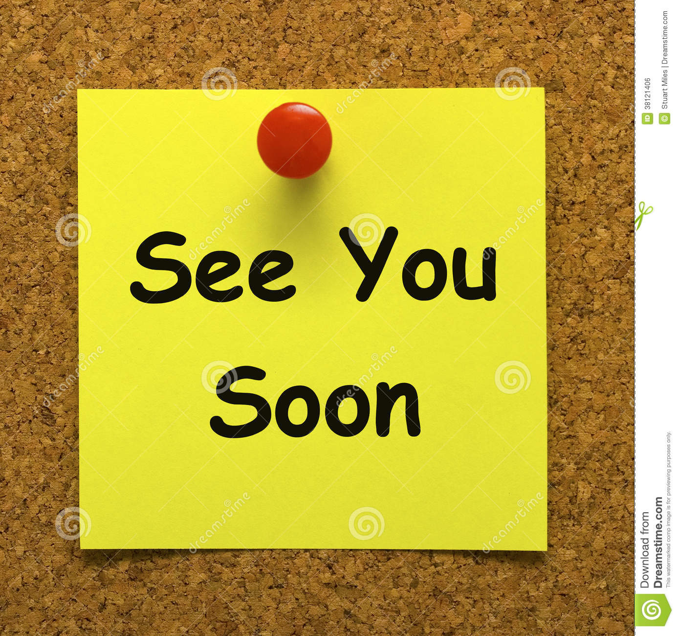 See You Soon Means Goodbye Or Farewell Stock Illustration Illustration Of Brand Square 38121406