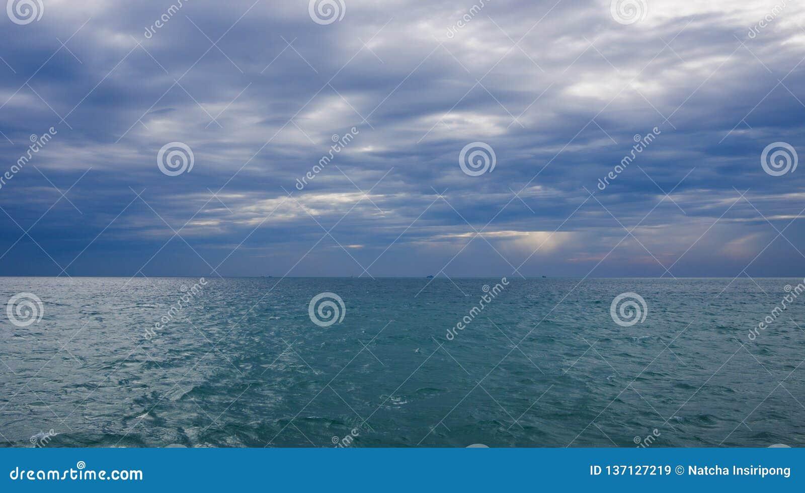 Seeansicht vom Golf von Thailand und vom Horizont