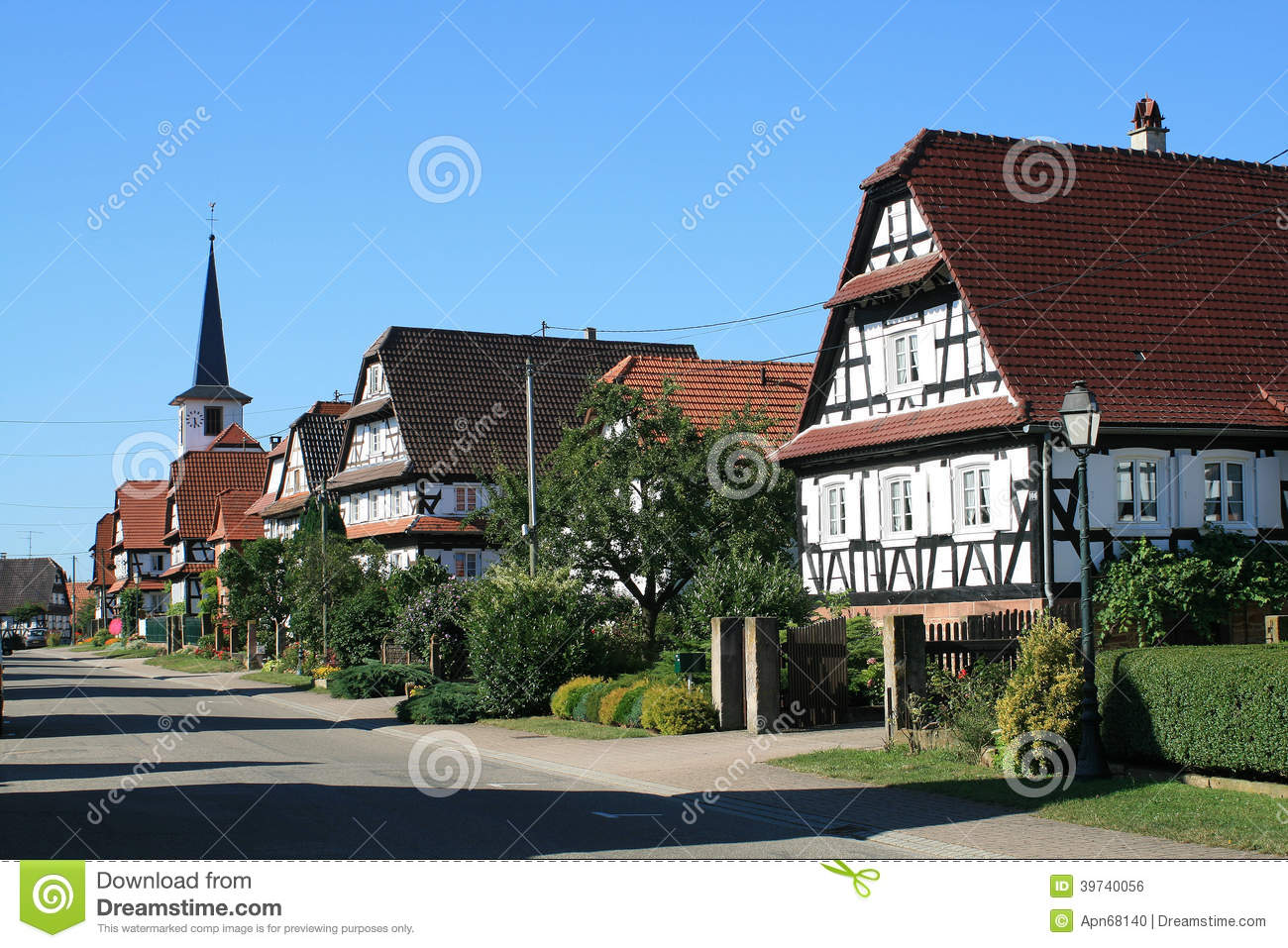 seebach village in alsace stock photo image of bas. Black Bedroom Furniture Sets. Home Design Ideas