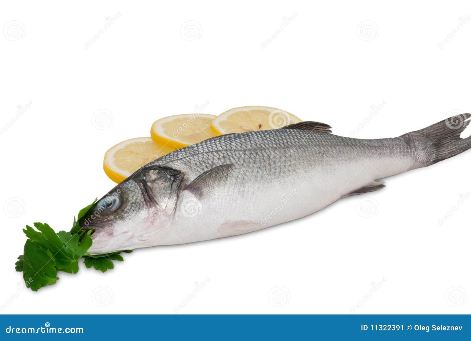 Seebarsch mit Kräutern und Zitrone