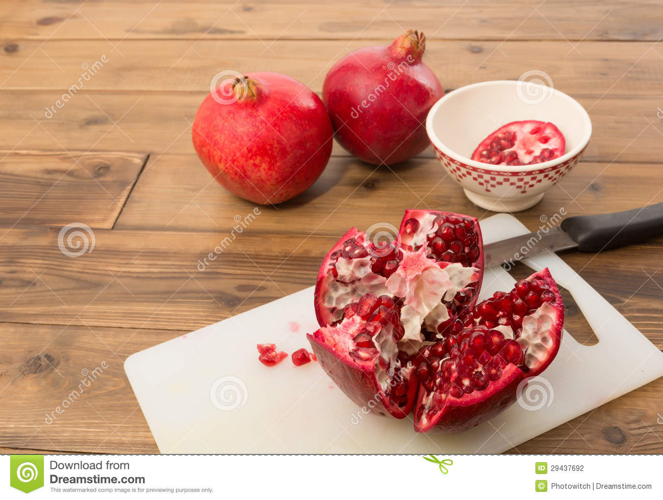 Seeds and arils of a pomegranate
