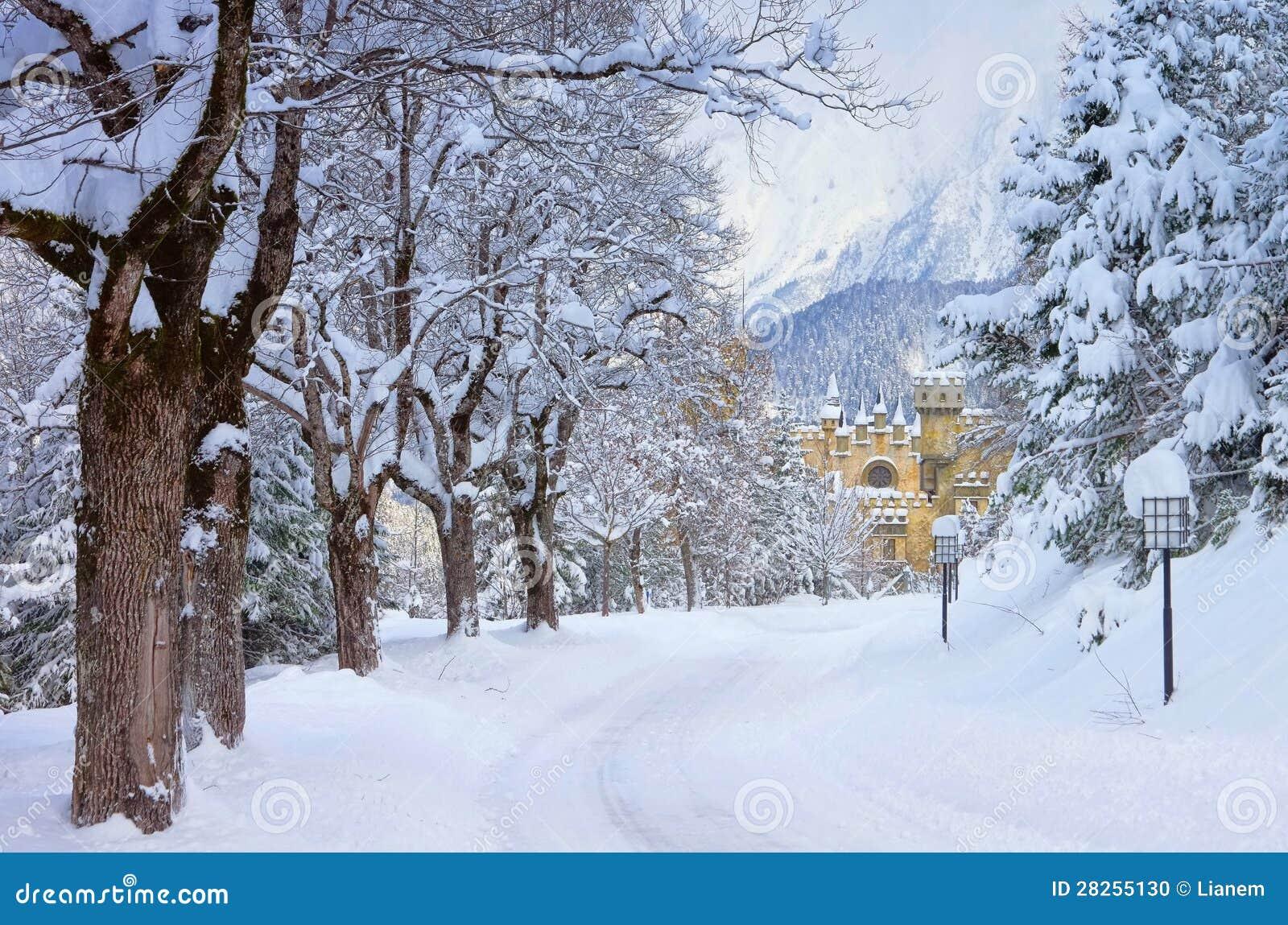 Seefeld castle in winter