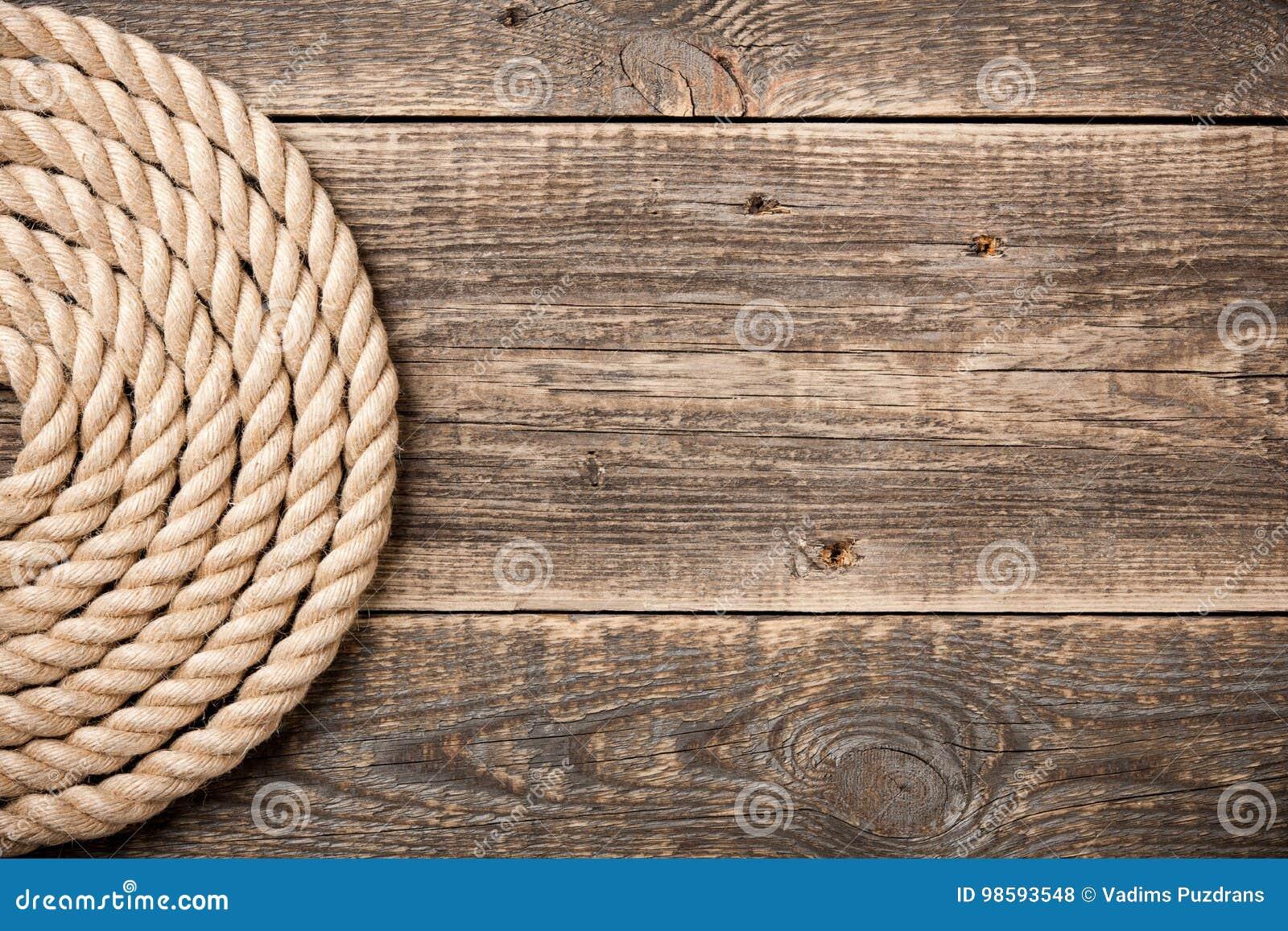 Seehintergrund mit Seil