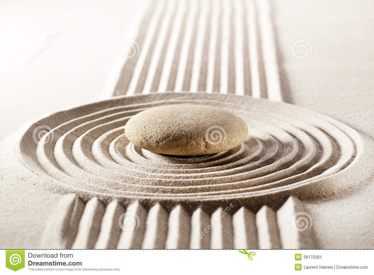Zen Design Meditation With Zen Design In Sand Stock Images  Image 36175304